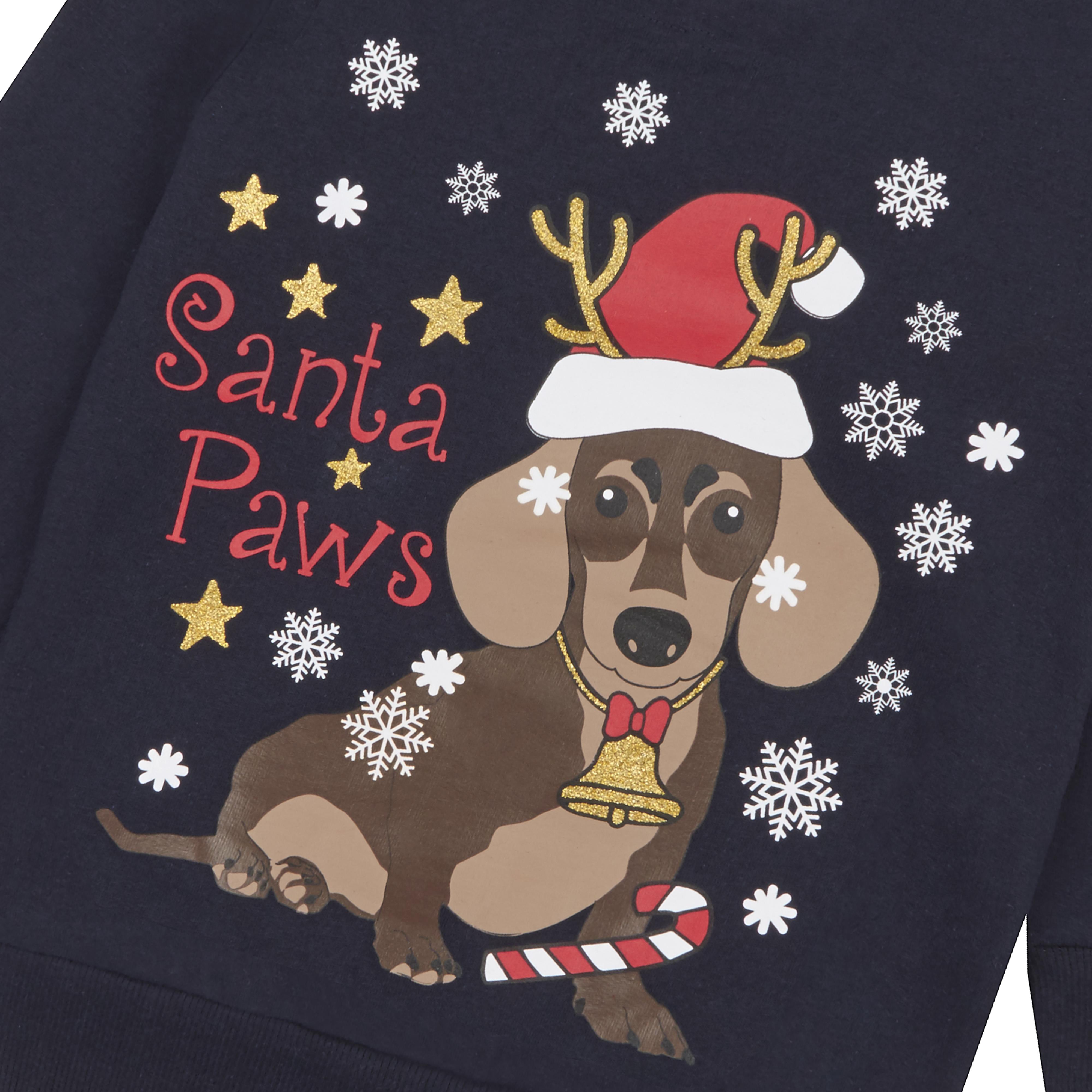 Childrens-Kids-Boys-Girls-Christmas-Xmas-Jumper-Sweatshirt-Rudolph-Glitter-Warm thumbnail 6