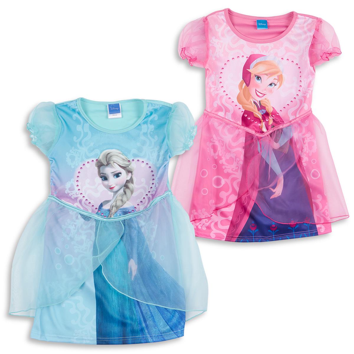 Disney Princess Frozen Girls Fancy Dress Up Costume Elsa Anna Party Outfit