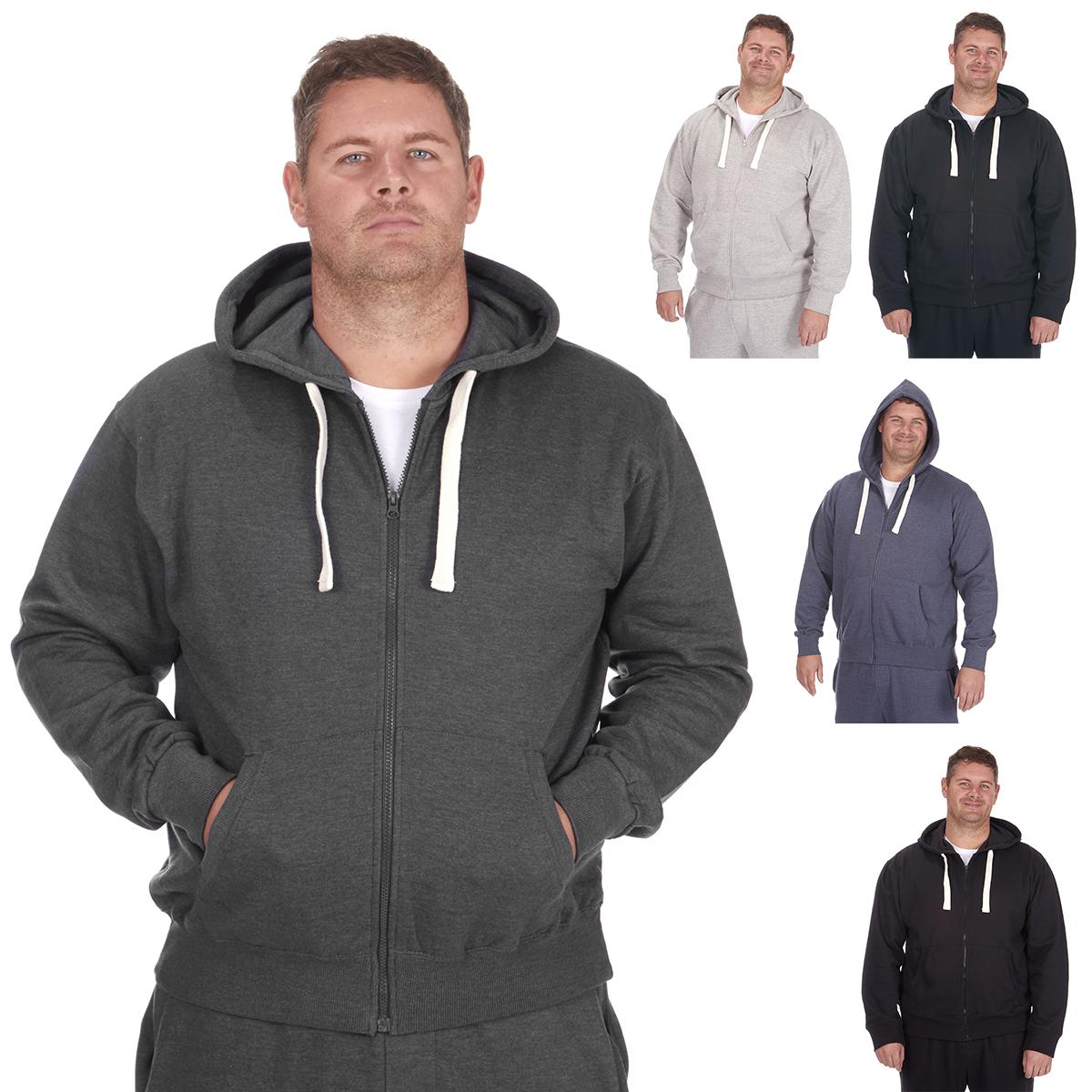 Détails sur Men's plus size sweat à capuche pulls veste basic plain casual sweat à capuche taille 3XL 6XL uk afficher le titre d'origine