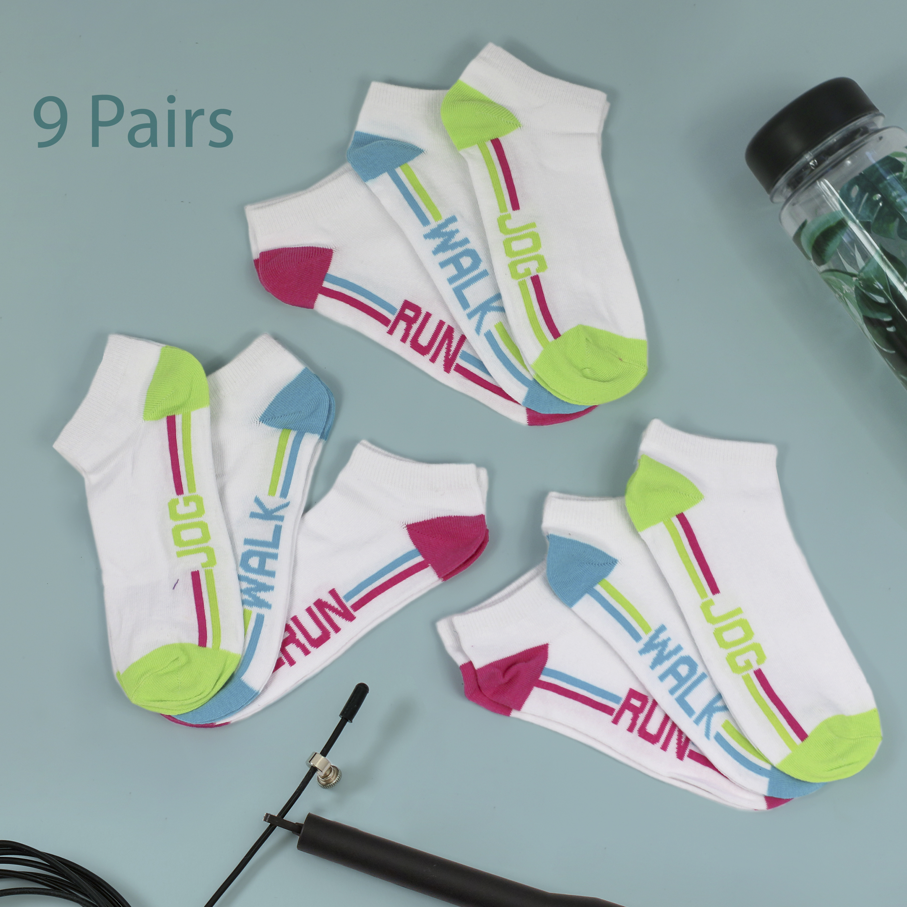 New 3 pairs of Womens Work Out Trainer Liner Gym Sports Socks Size UK 4-8