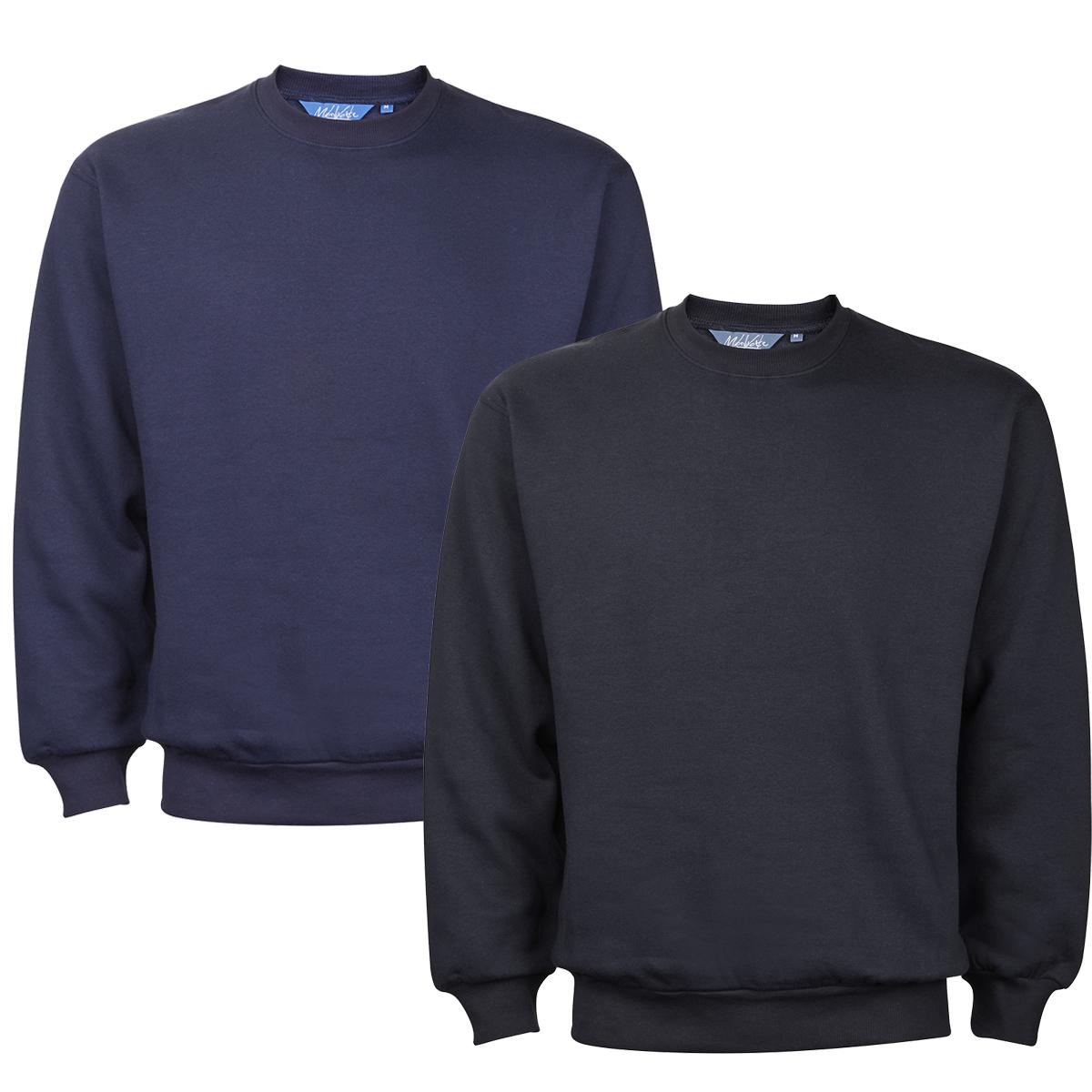 Mens-New-Plain-Crew-Neck-Sweatshirt-Jumper-Top-Pullover-Sweater-Long-Sleeve thumbnail 8