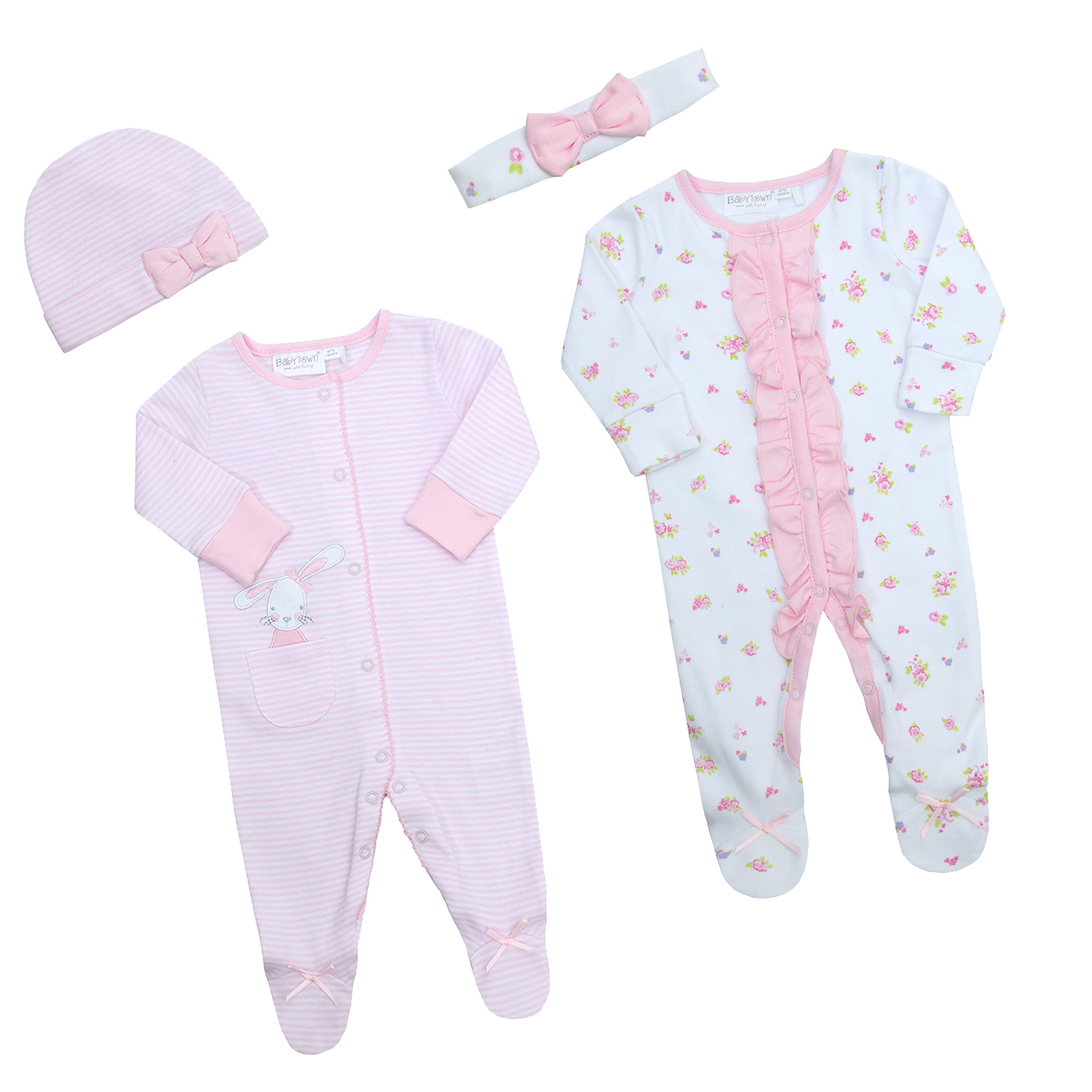 Newborn Infant Baby Boys Dinosaur Sleepsuit Set Cradle Cute Cap Hat Premature