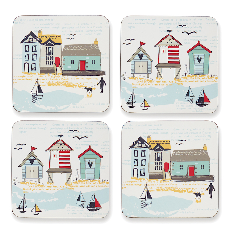 Cooksmart Beside the Seaside Placemats and Coasters Nautical Coastal Table Mats