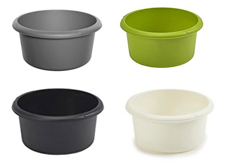 whitefurze plastic small round bowl washing up basin sink. Black Bedroom Furniture Sets. Home Design Ideas