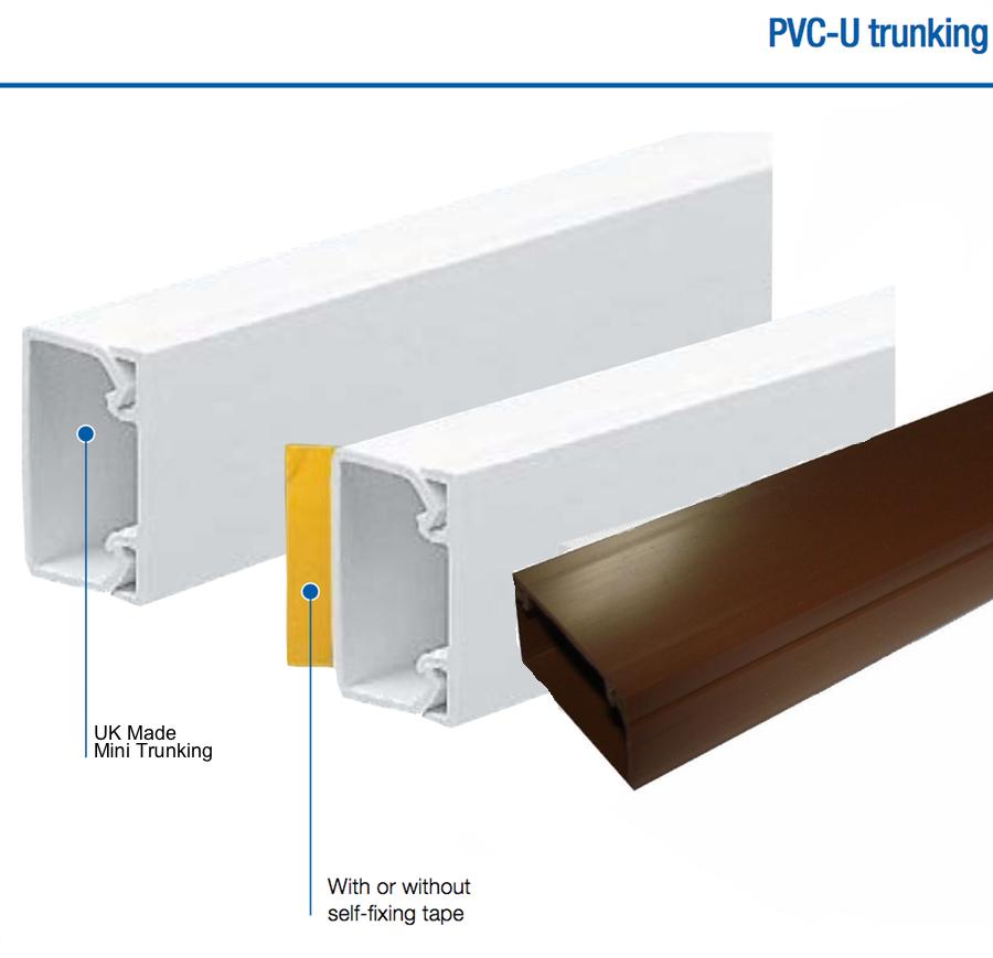 Mini Cable Trunking Self Adhesive Multi Colour White Pvc Conduit Tv Wire 1 Metre Ebay