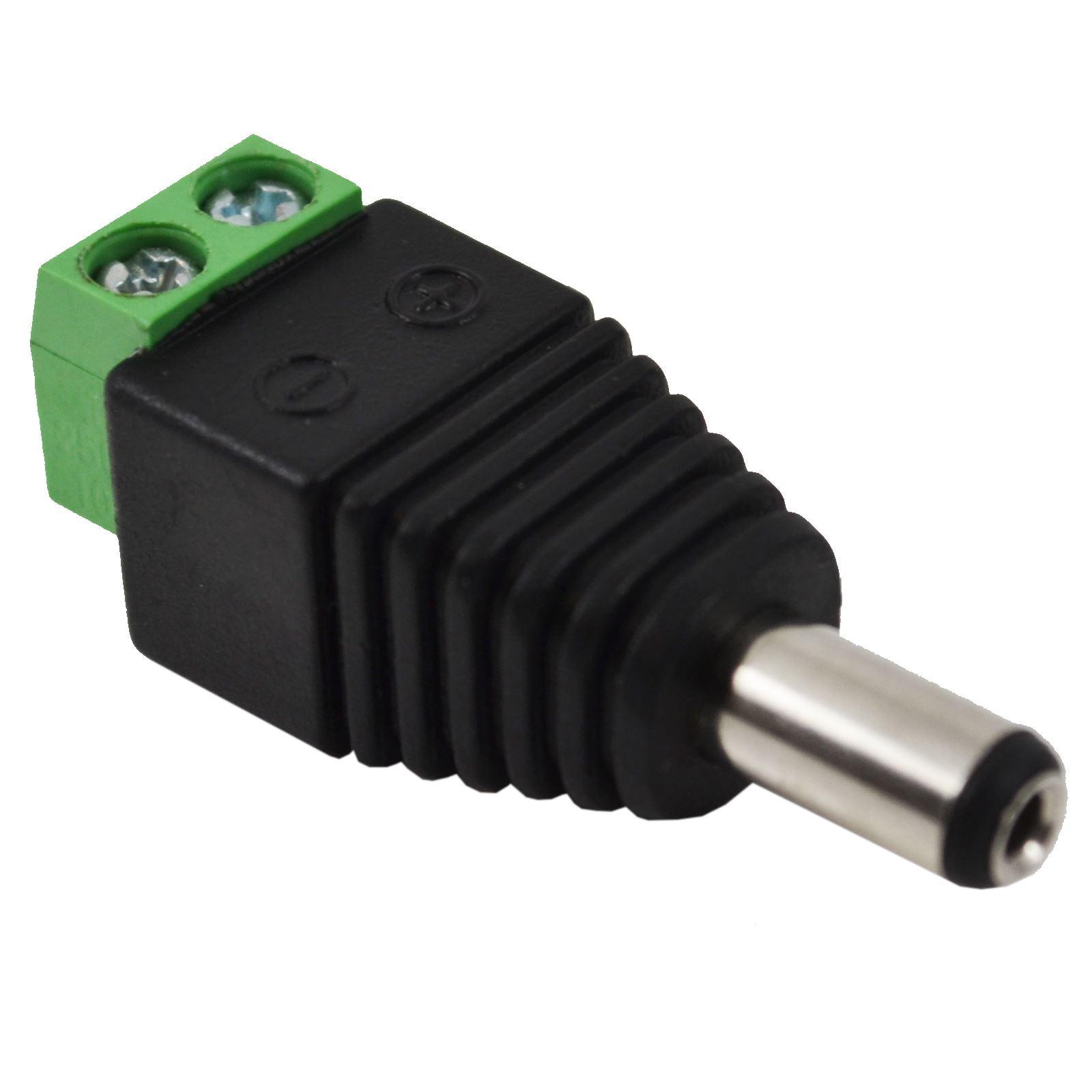 10 X 12v Dc Male Power Connector Adapter Plug Jack Socket