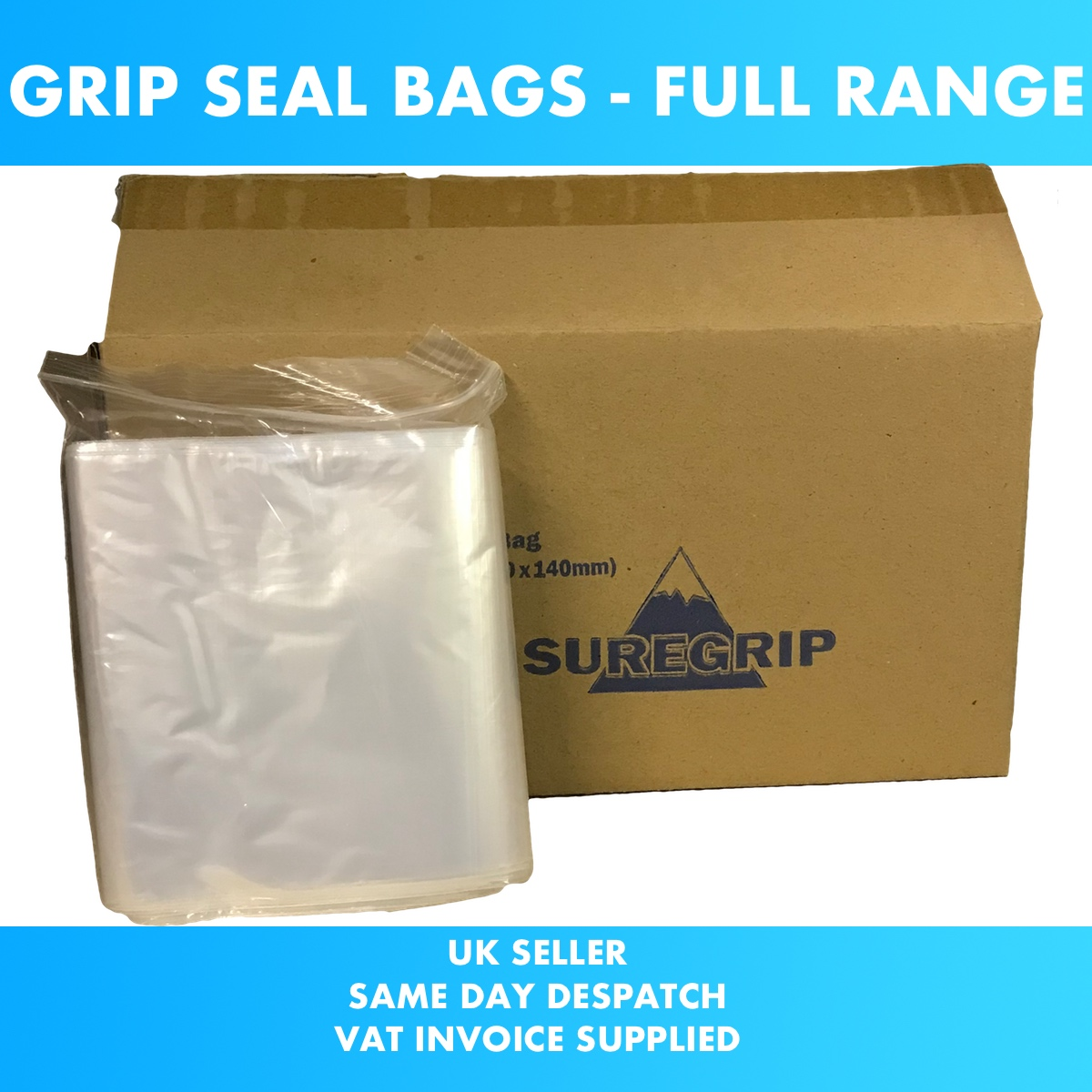 Small Clear Bags Plastic Baggies Grip Self Seal Resealable Zip Lock High Quality B3