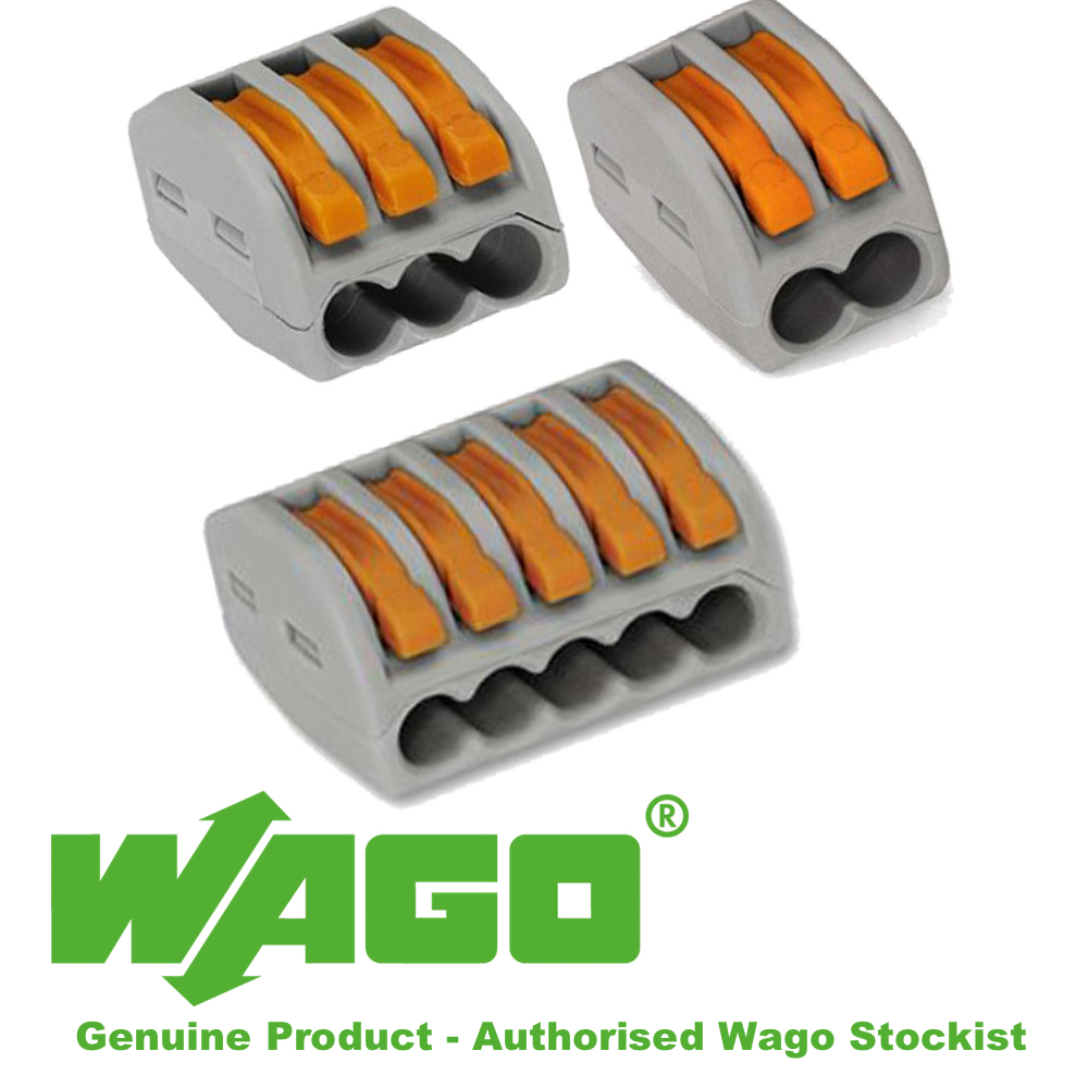 3-way LEVER CONNECTOR WAGO 222 SERIES PACK OF 5