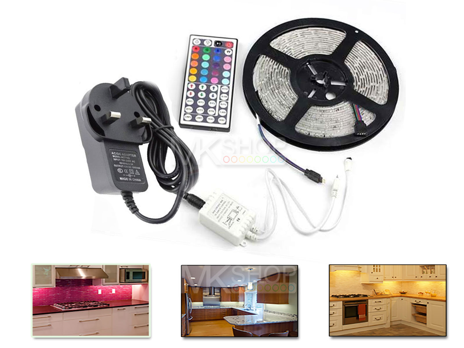 UNDER CABINET COUNTER KITCHEN TV PLASMA LED STRIP LIGHT ...