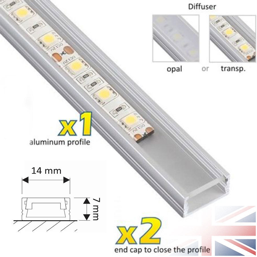 1 Meter Aluminium Channel For Led Strip Light Cover Pvc