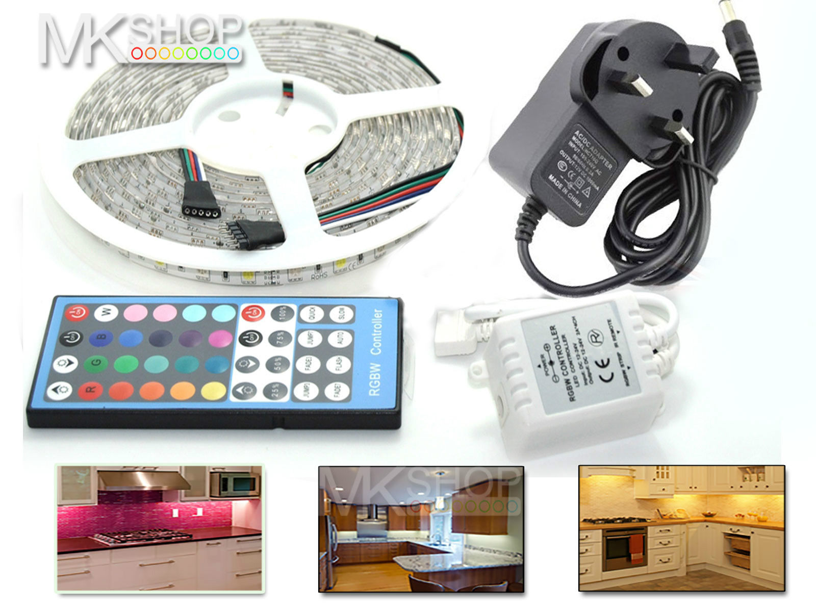 1m 2m 3m 4m 5m 5050 led strip rgbw warm white ip65 home for Kitchen ideas 5m x 3m