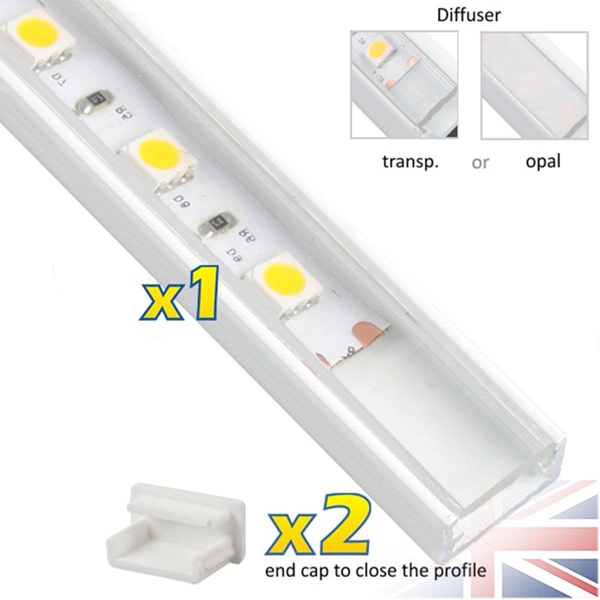 1 meter white aluminium channel for 5050 led strip light. Black Bedroom Furniture Sets. Home Design Ideas