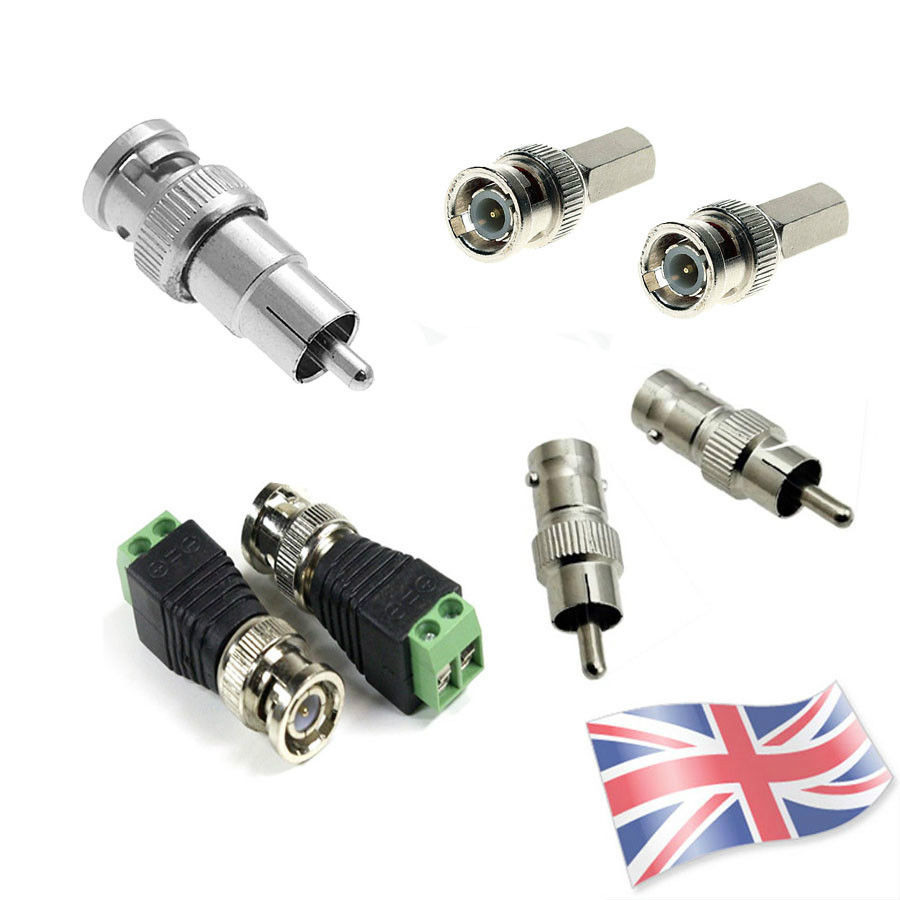 CAT5 Coaxial Camera CCTV TV Video Balun BNC Cable Connector Adapter ...