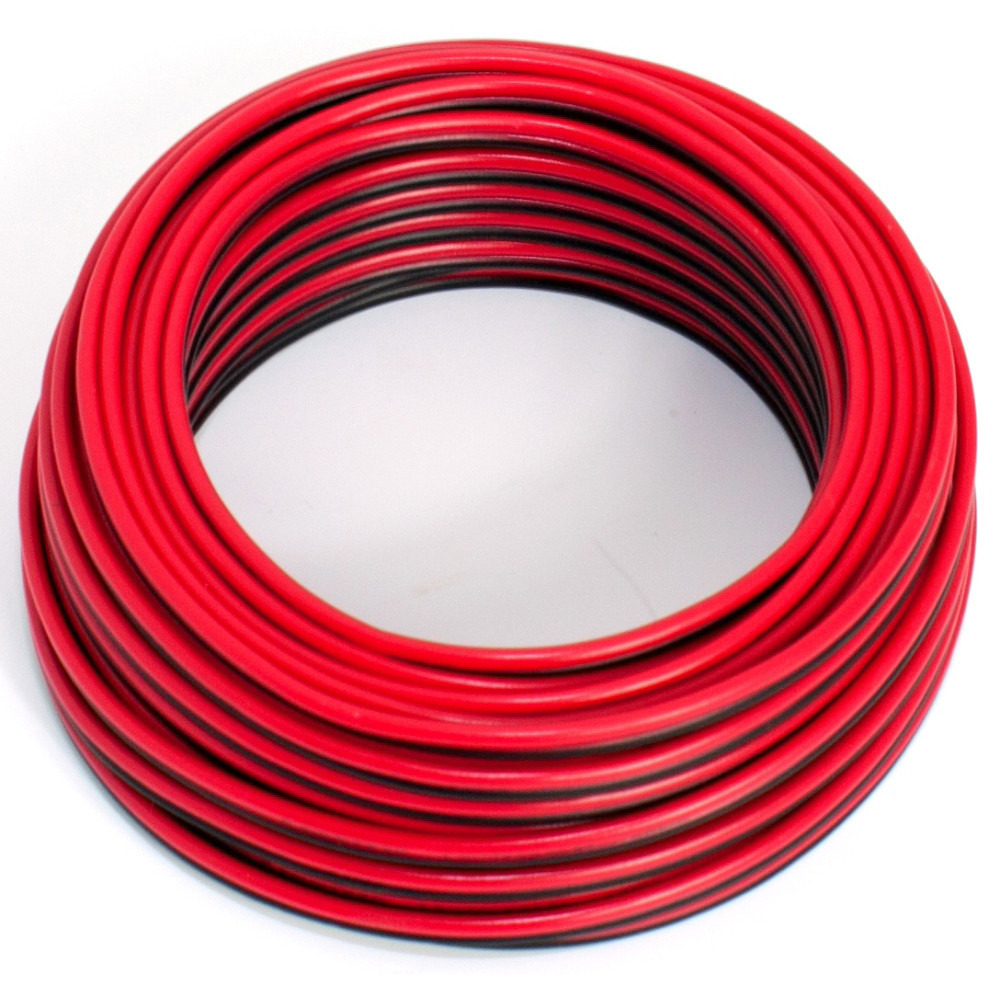 20m 2x 0.35mm Multi-Strand Loud Speaker Cable//Wire for Home//Car Audio Black//Red