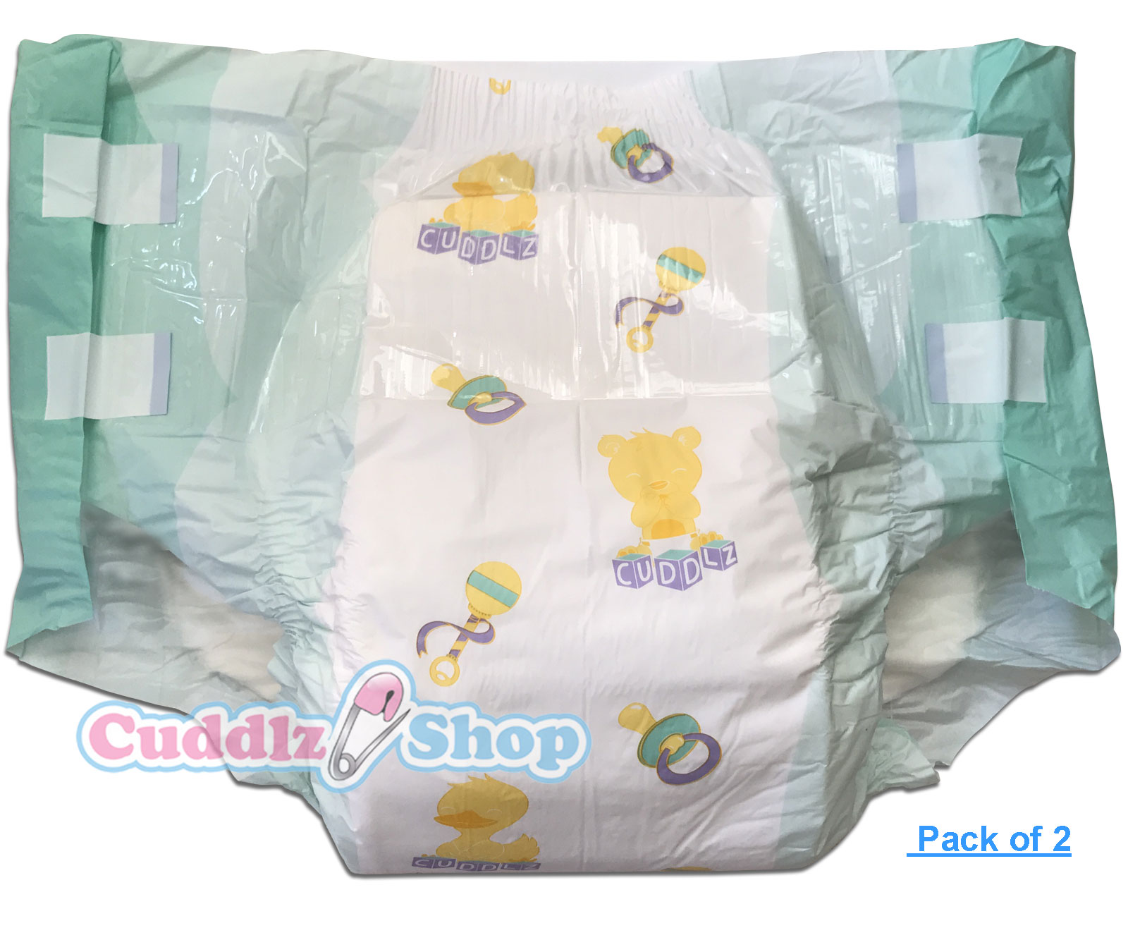 2 Cuddlz Large Adult Nursery Pattern All Over Printed