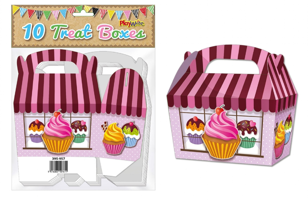 10-Party-Bag-Treat-Boxes-Choose-From-16-Designs-Cupcake-Gift-Themed-Children thumbnail 25
