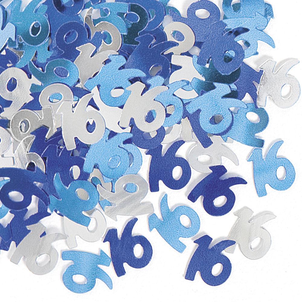 blau glanz 14g konfetti w hlen aus 13 designs tisch party folie dekoration ebay. Black Bedroom Furniture Sets. Home Design Ideas