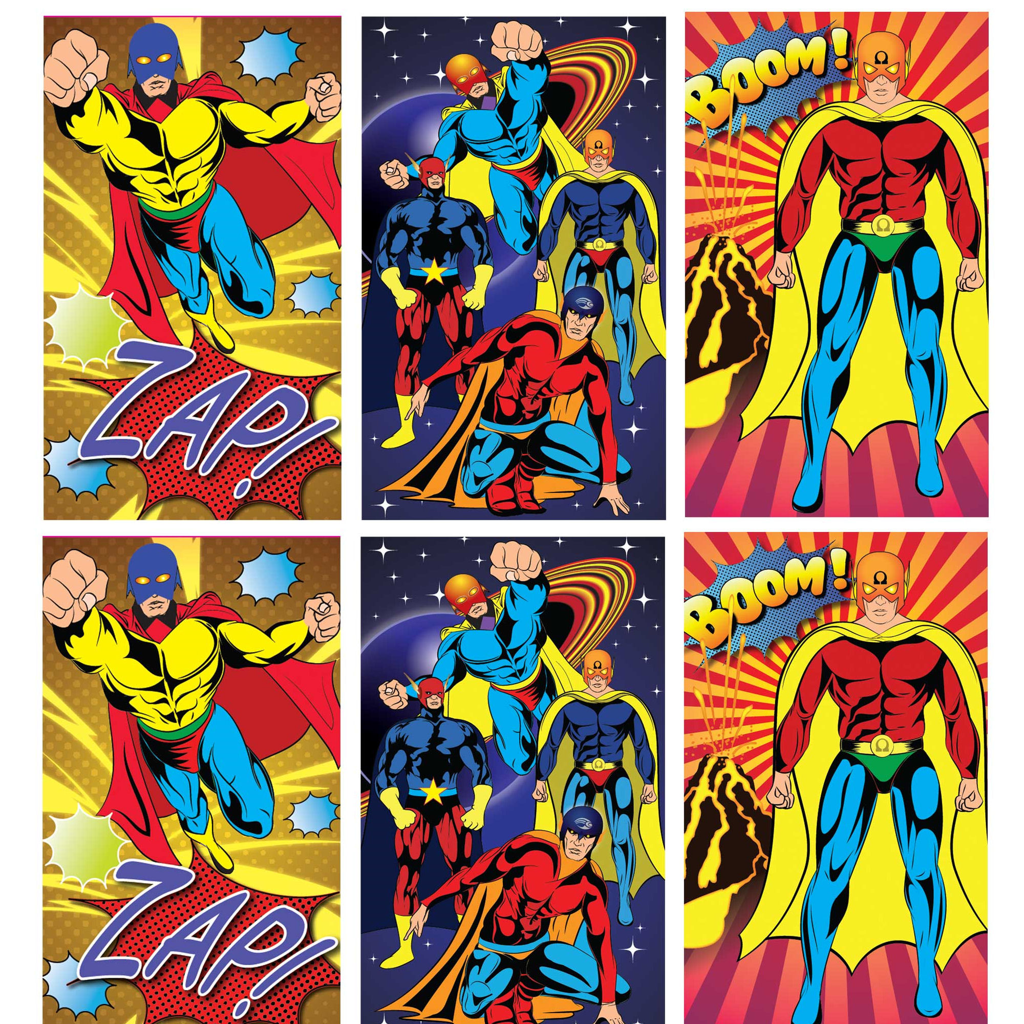 72  x Super Hero Rings Pinata Toy Loot//Party Bag Fillers Wedding//Kids