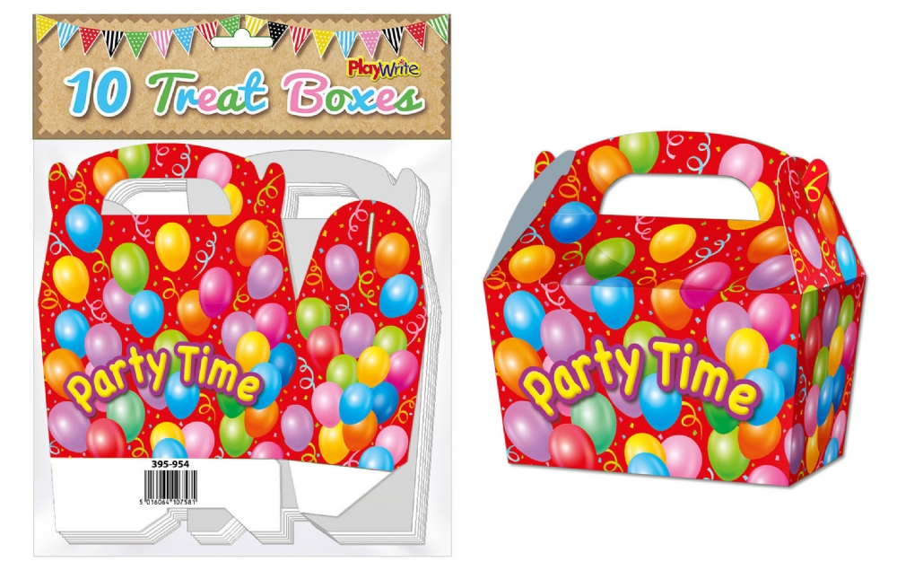 10-Party-Bag-Treat-Boxes-Choose-From-16-Designs-Cupcake-Gift-Themed-Children thumbnail 19