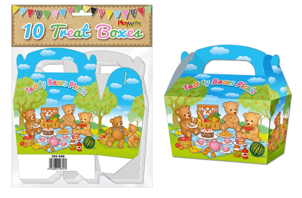 10-Party-Bag-Treat-Boxes-Choose-From-16-Designs-Cupcake-Gift-Themed-Children thumbnail 28