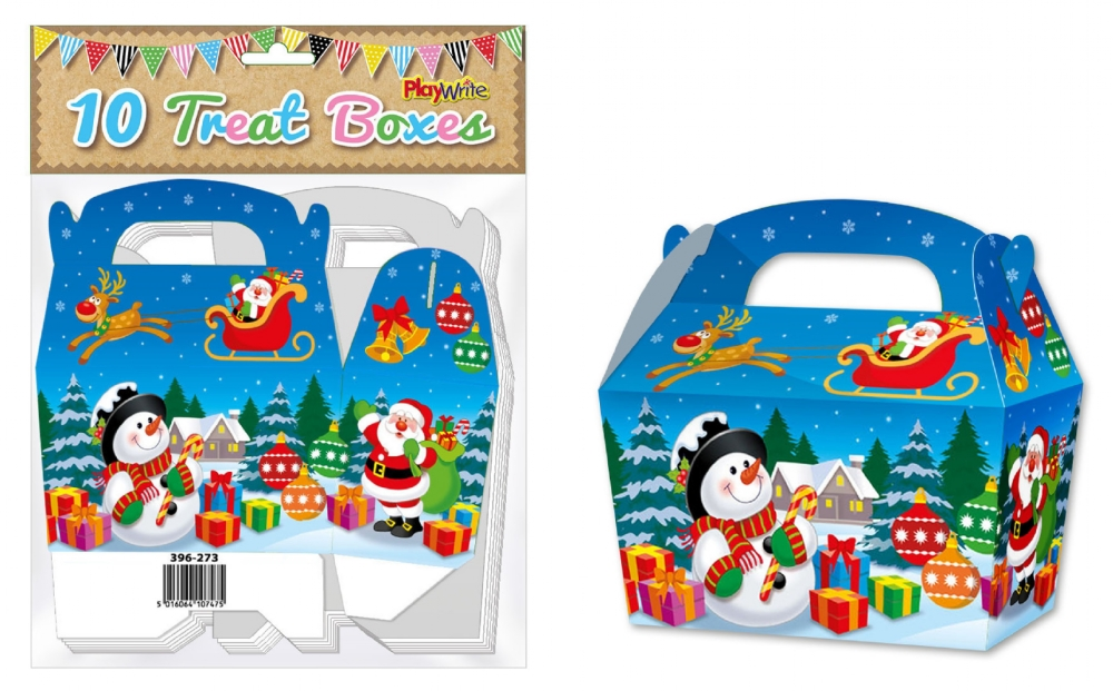 10-Party-Bag-Treat-Boxes-Choose-From-16-Designs-Cupcake-Gift-Themed-Children thumbnail 9