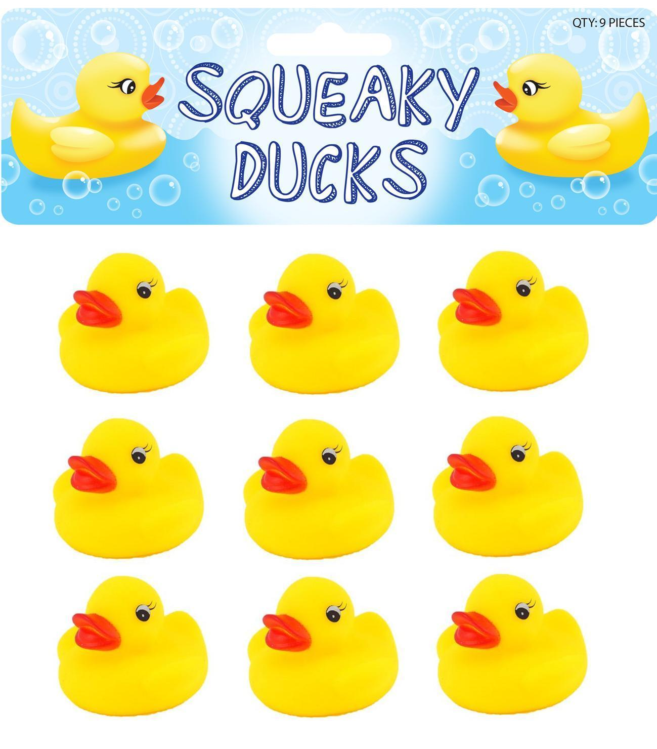 Pack of 6 Hero Rubber Ducks for Children to Play With Perfect Party Bag Filler /& Fun Bathtime Toy for Kids