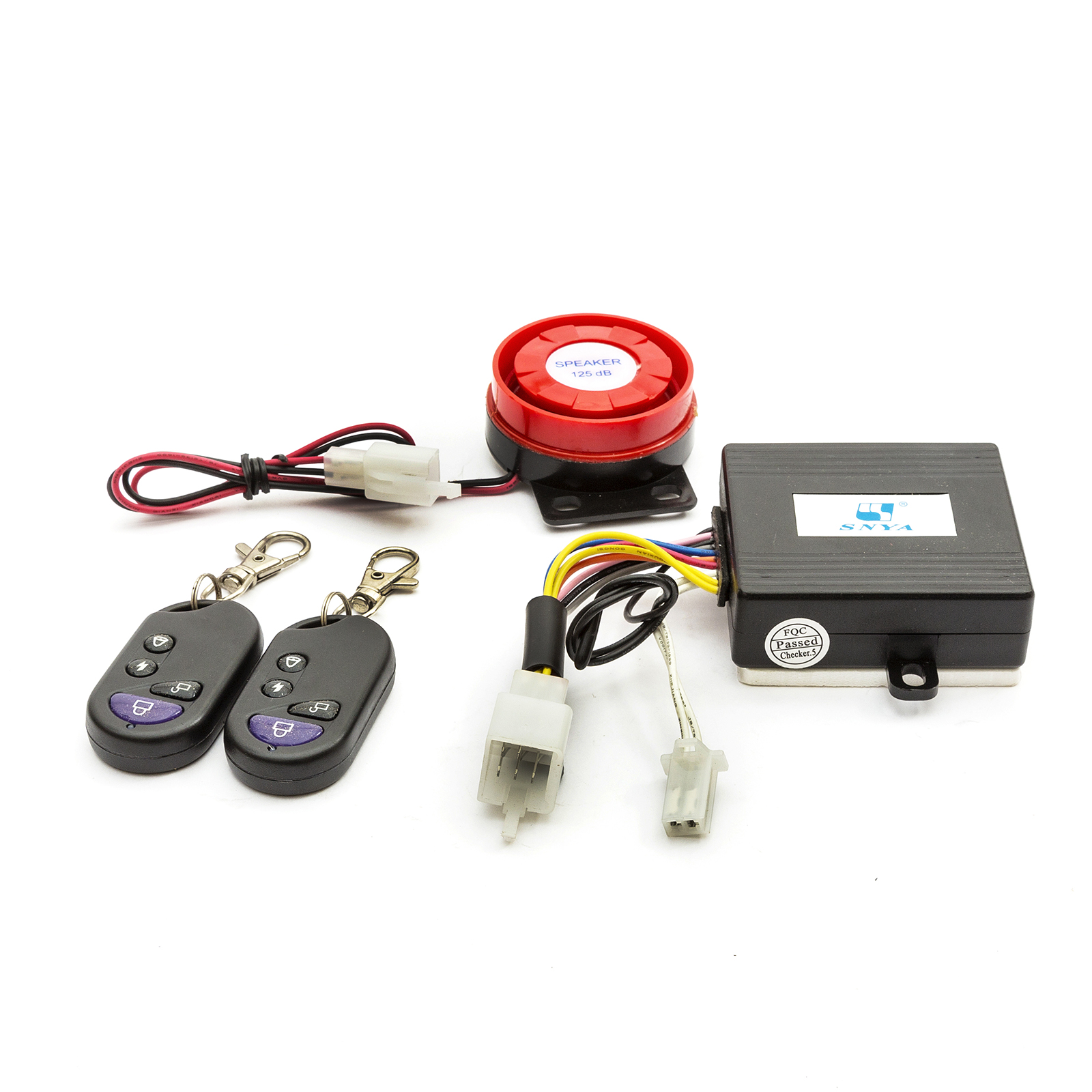 Details about Baotian Scooter Alarm System 50cc 125cc Remote Start & 2 Fobs  Plugs To Loom