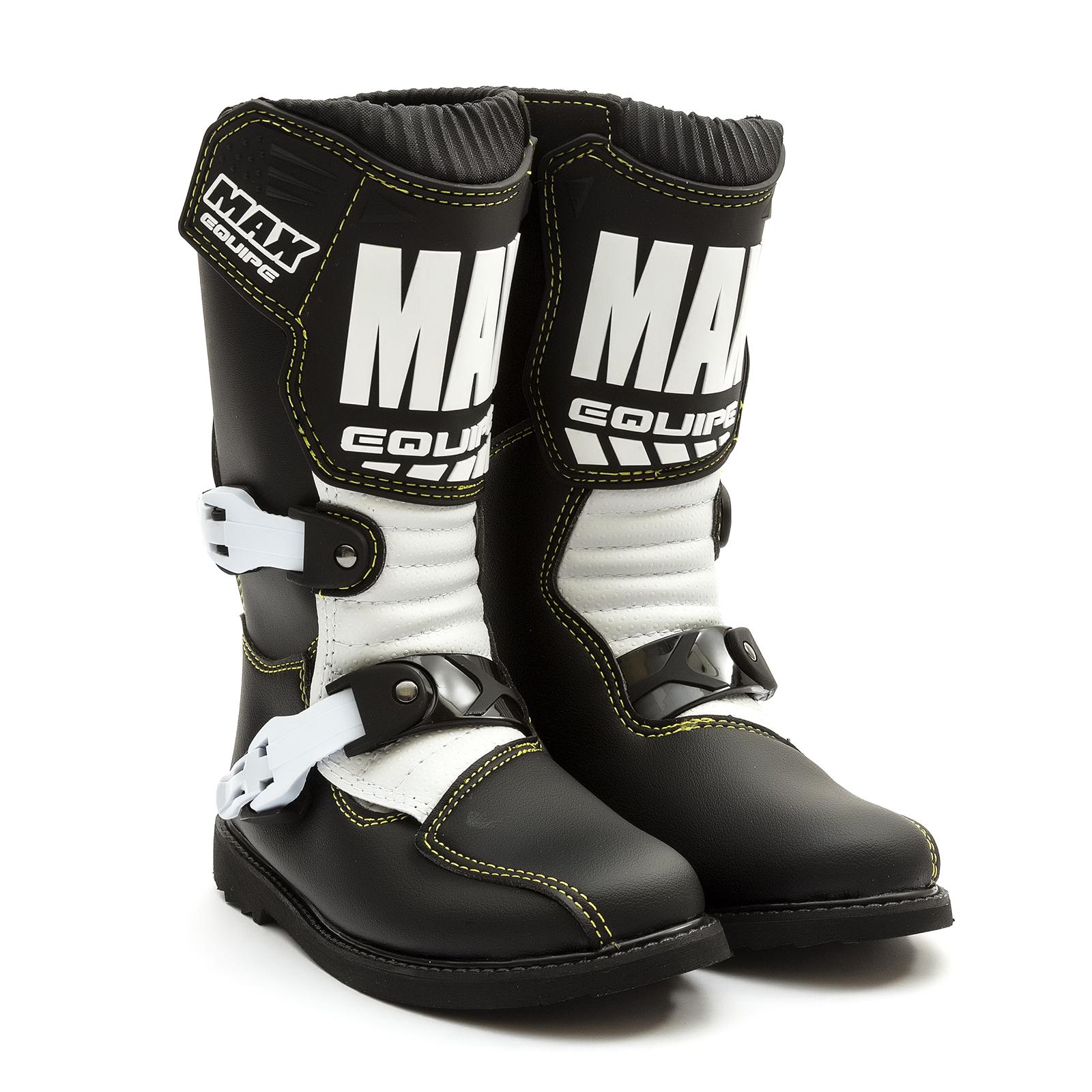 Wulfsport Cub LA Junior Kids Leather Motocross Boots EU 29 // UK Kids 11, Black