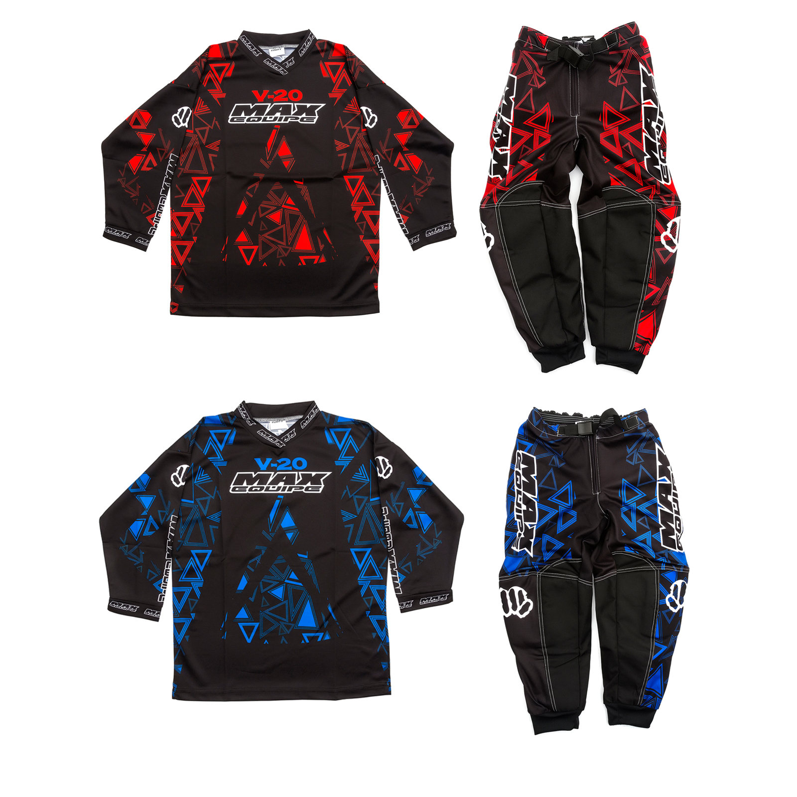 Red 22 Wulfsport Max Equipe Kids V-20 Motocross Motorbike Race Pants Trousers