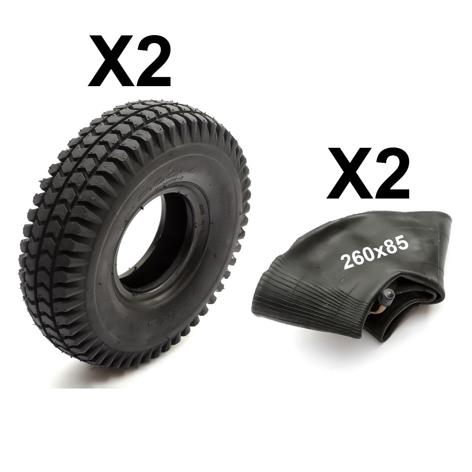 2 INNERTUBE 200x50 per scooter elettrico o sedia di Alimentazione Elettrica Benzina Tubo interno piegato