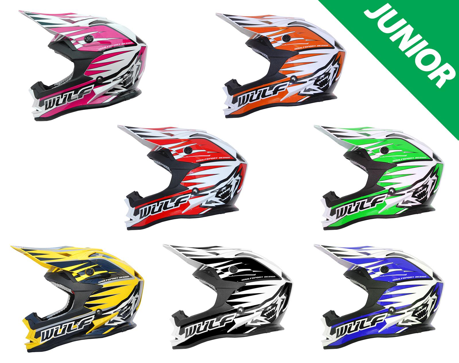 Détails Sur Wulfsport Junior Advance Motocross Mx Casque Enfants Quad Atv Ec 22 05 Acu