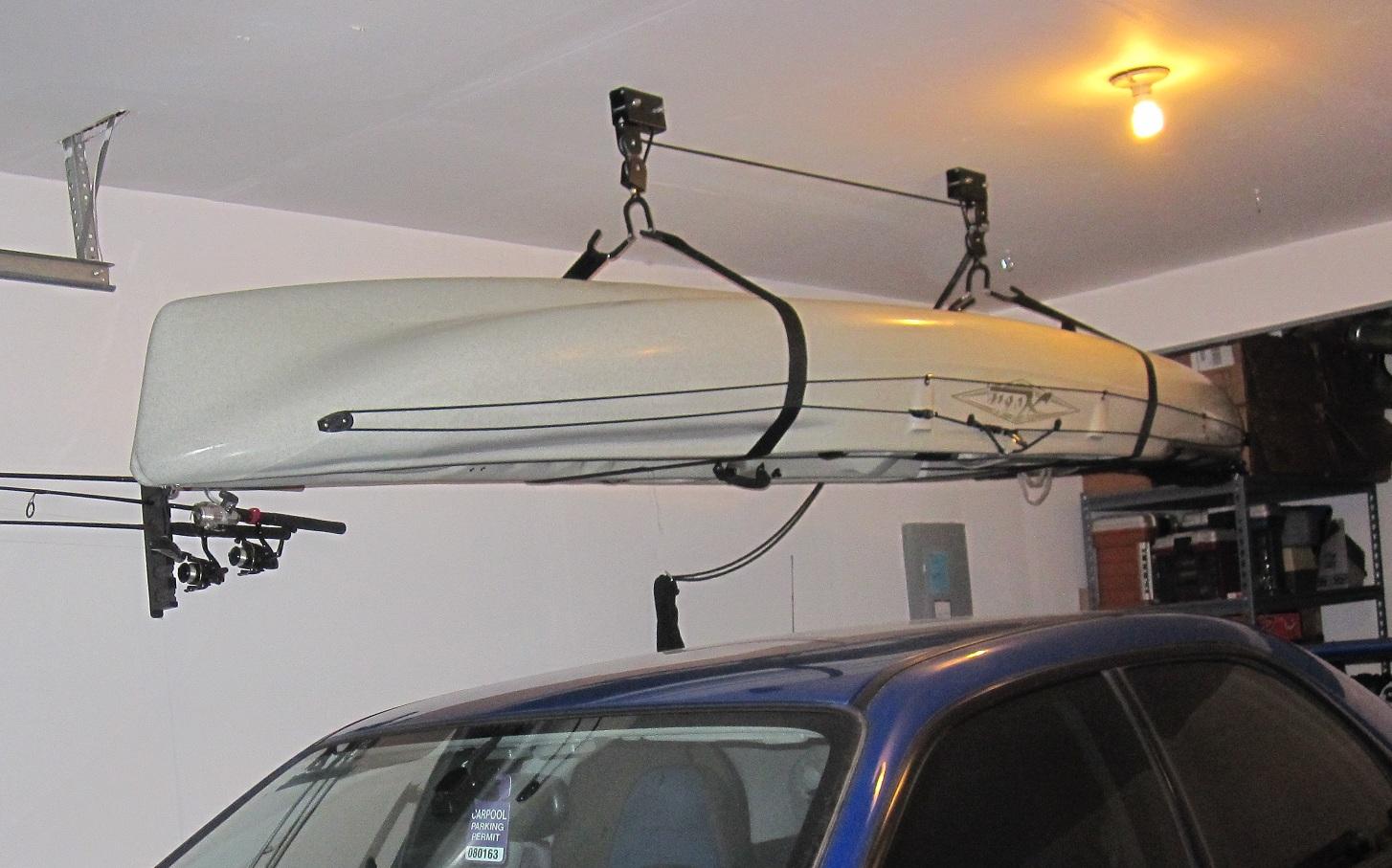 Canoe Storage Garage Ceiling Storage Pulley Hoist Up To 30