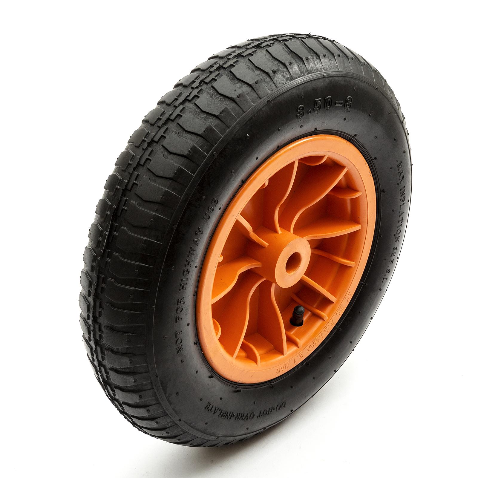 """Rouge complet 14 /""""pneumatique 4 plis brouette roue pneumatique 3.50-8 tube intérieur"""