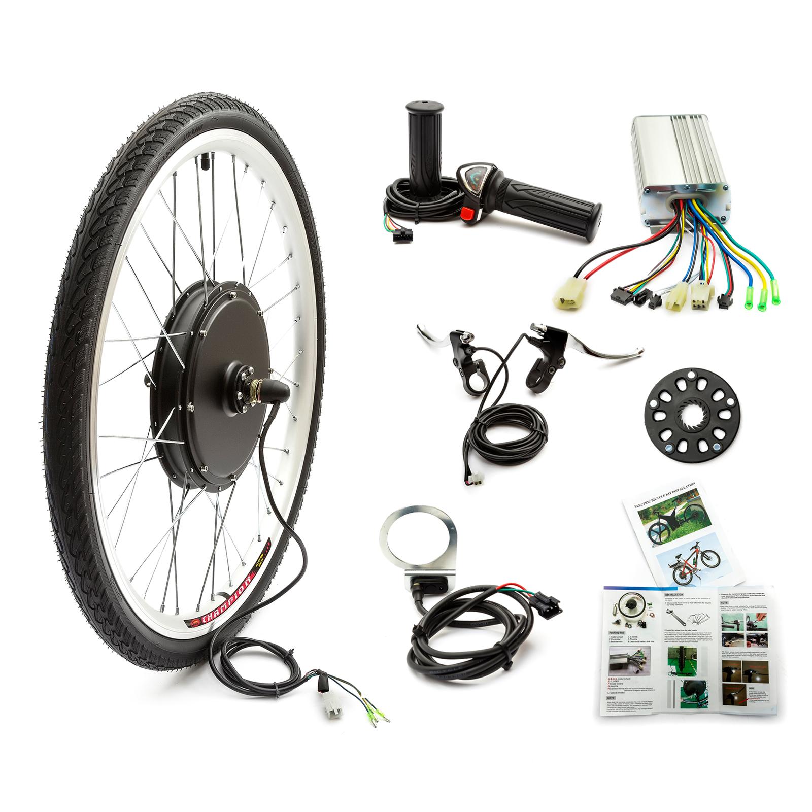 lectrique e bicyclette roue avant kit de conversion 48v. Black Bedroom Furniture Sets. Home Design Ideas