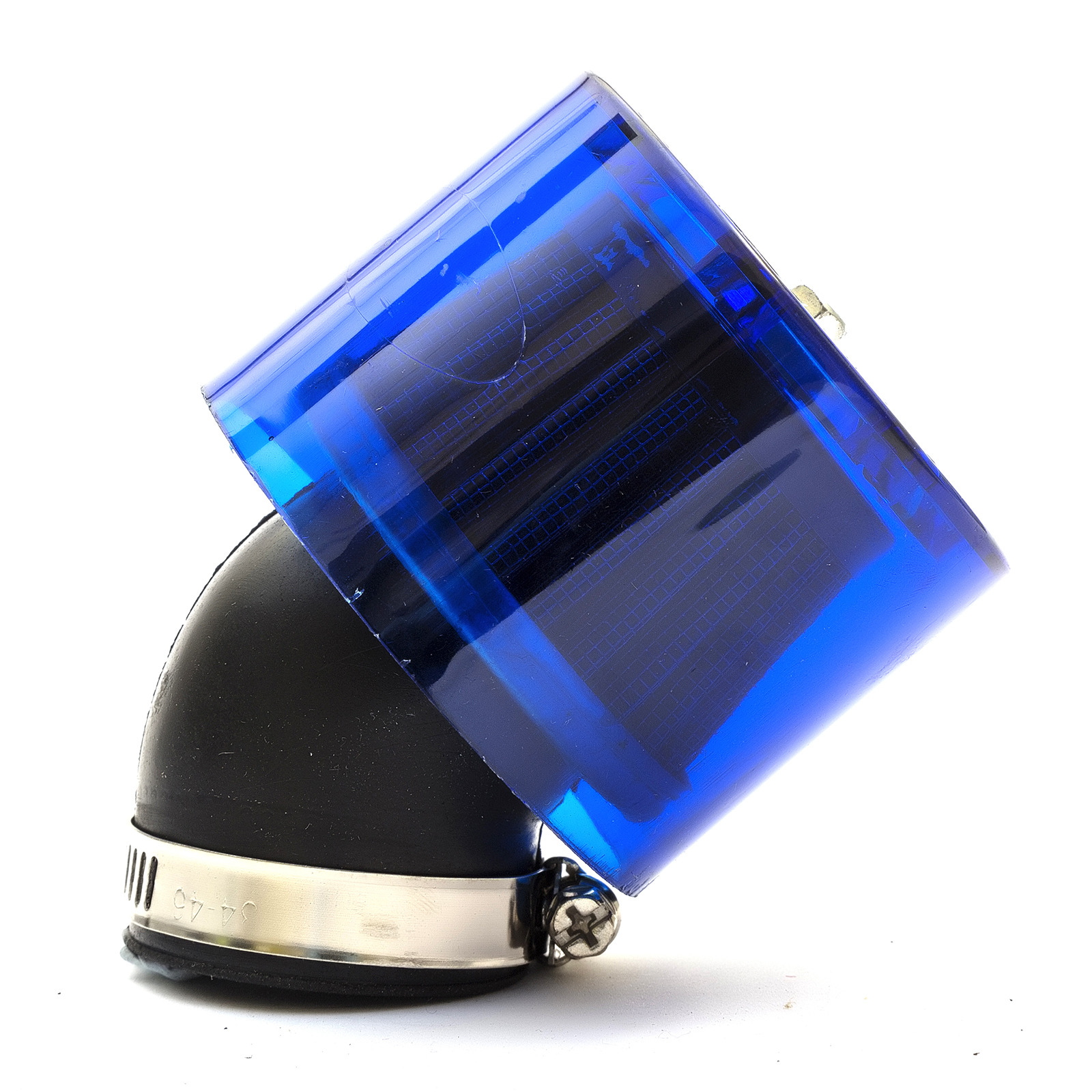 36mm Scooter Air Filter Blue Performance Mushroom Style Bent Angled Neck /& Cover