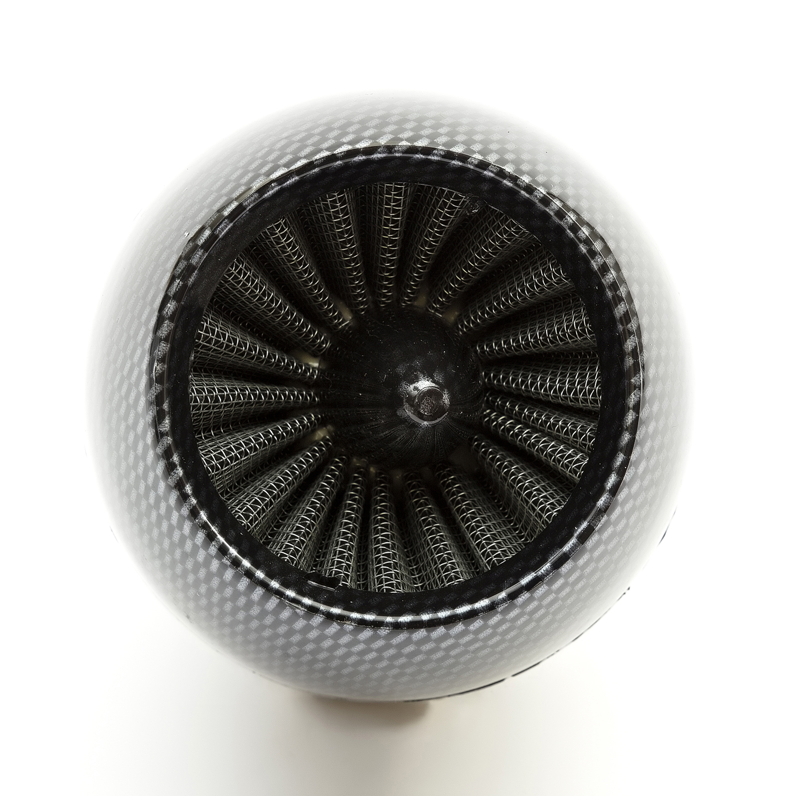 48mm Pitbike Air Filter Carbon Fibre Performance High flow Jetcone Style Angled Neck