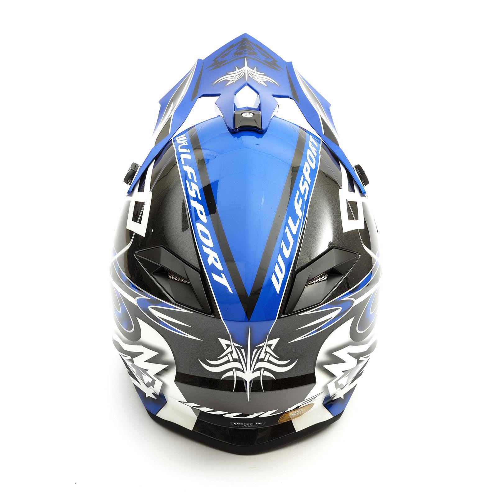 Wulfsport-Adult-Sceptre-Helmets-Motocross-Pitbike-Motorbike-Off-Road-Racing-ATV thumbnail 18