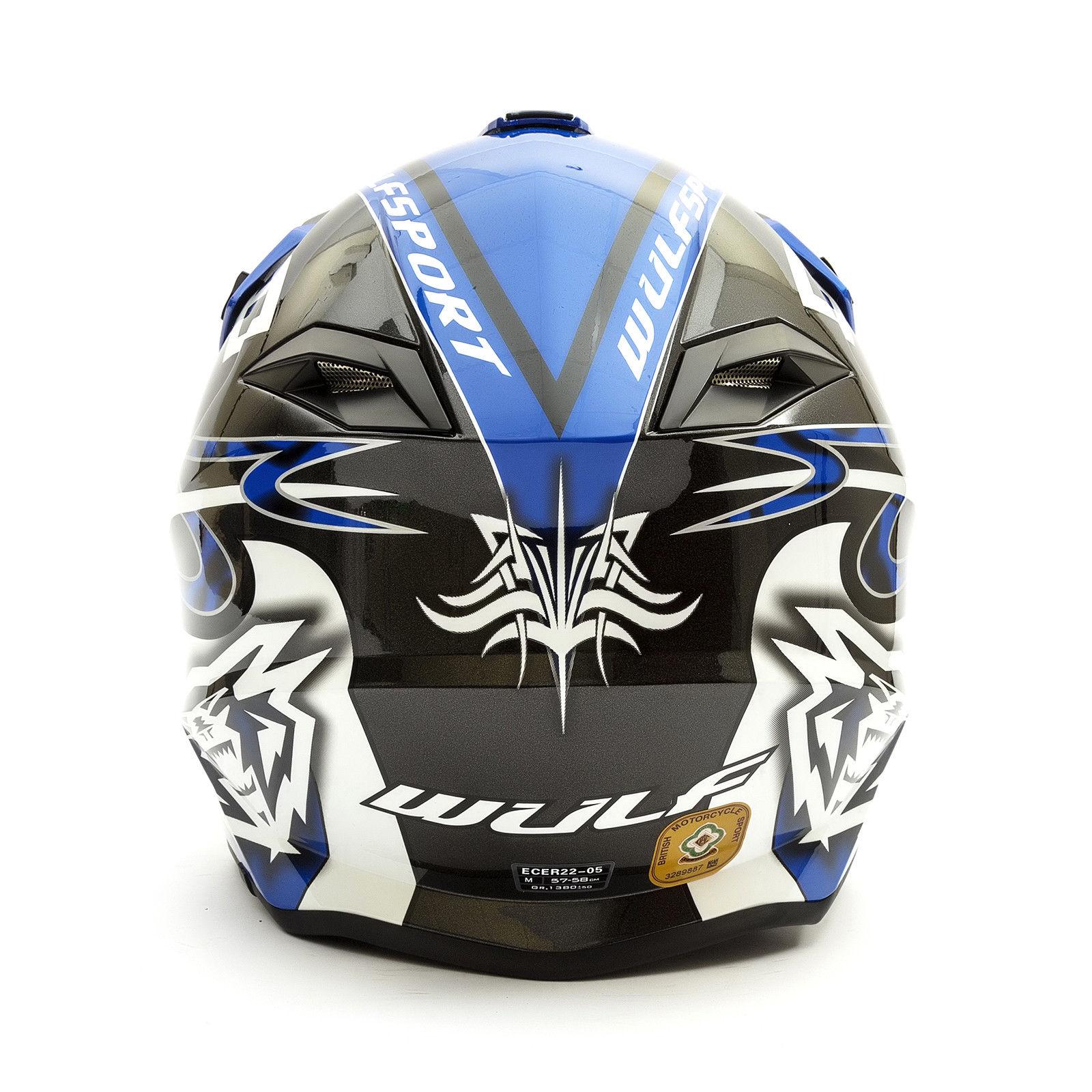 Wulfsport-Adult-Sceptre-Helmets-Motocross-Pitbike-Motorbike-Off-Road-Racing-ATV thumbnail 24