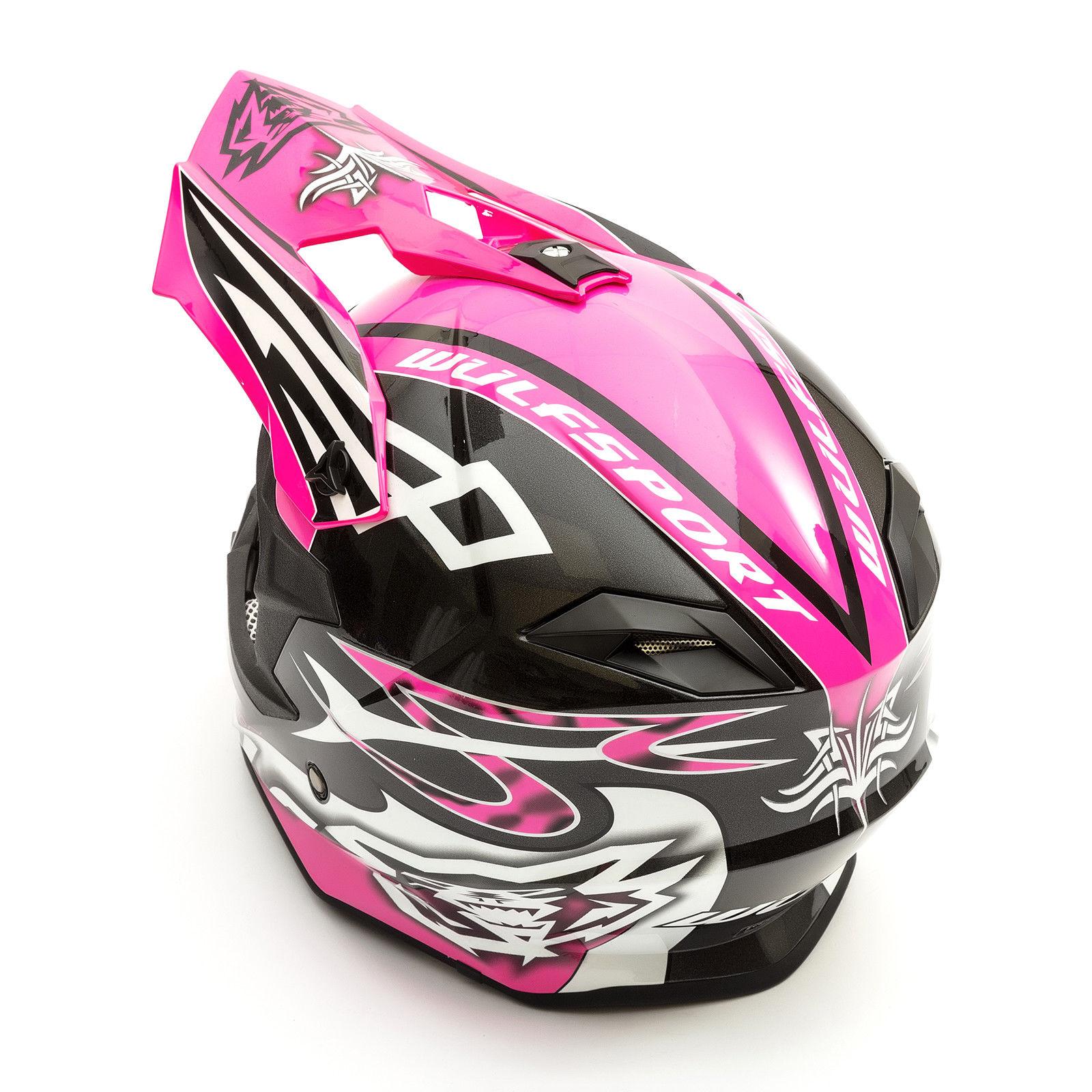 Wulfsport-Adult-Sceptre-Helmets-Motocross-Pitbike-Motorbike-Off-Road-Racing-ATV thumbnail 41