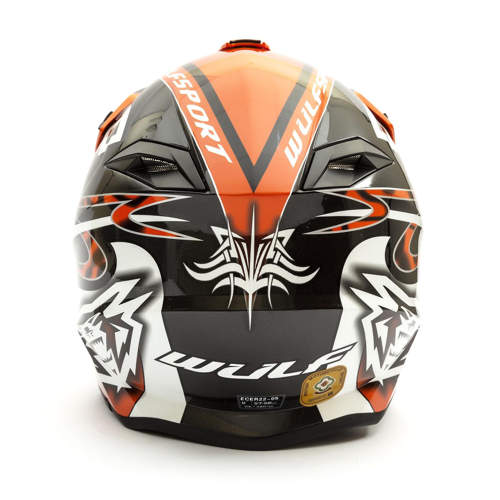 Wulfsport-Adult-Sceptre-Helmets-Motocross-Pitbike-Motorbike-Off-Road-Racing-ATV thumbnail 84