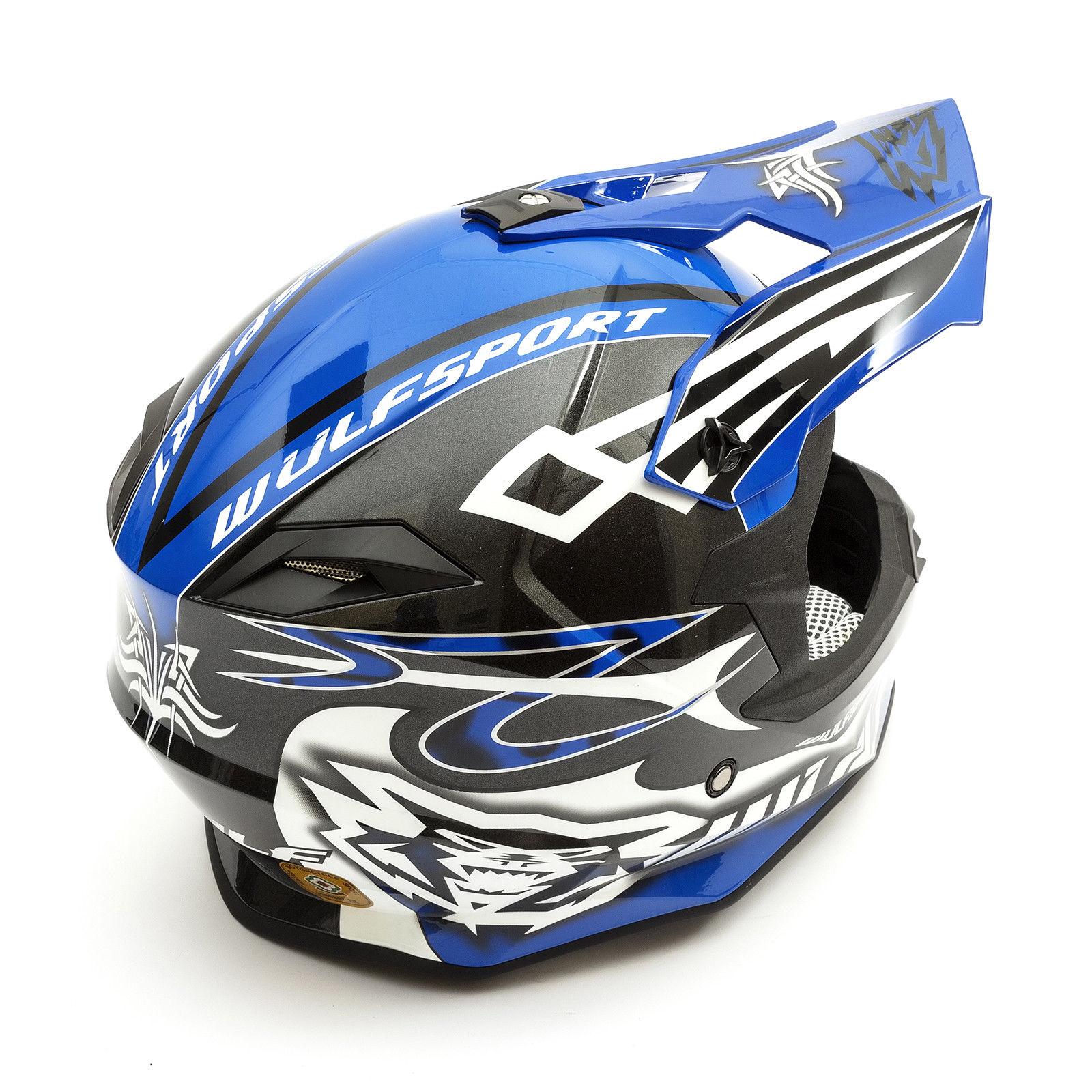 Wulfsport-Adult-Sceptre-Helmets-Motocross-Pitbike-Motorbike-Off-Road-Racing-ATV thumbnail 19