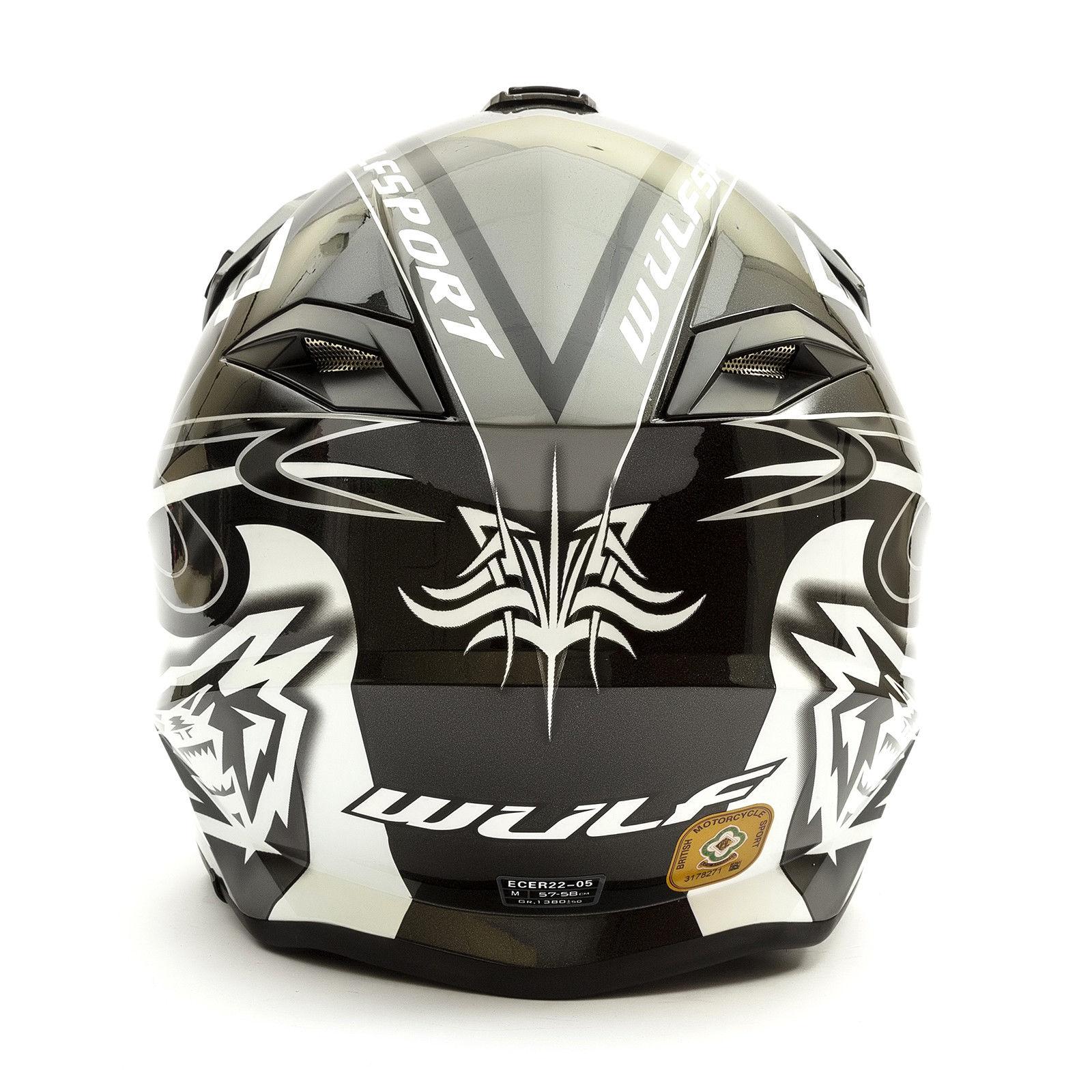Wulfsport-Adult-Sceptre-Helmets-Motocross-Pitbike-Motorbike-Off-Road-Racing-ATV thumbnail 12
