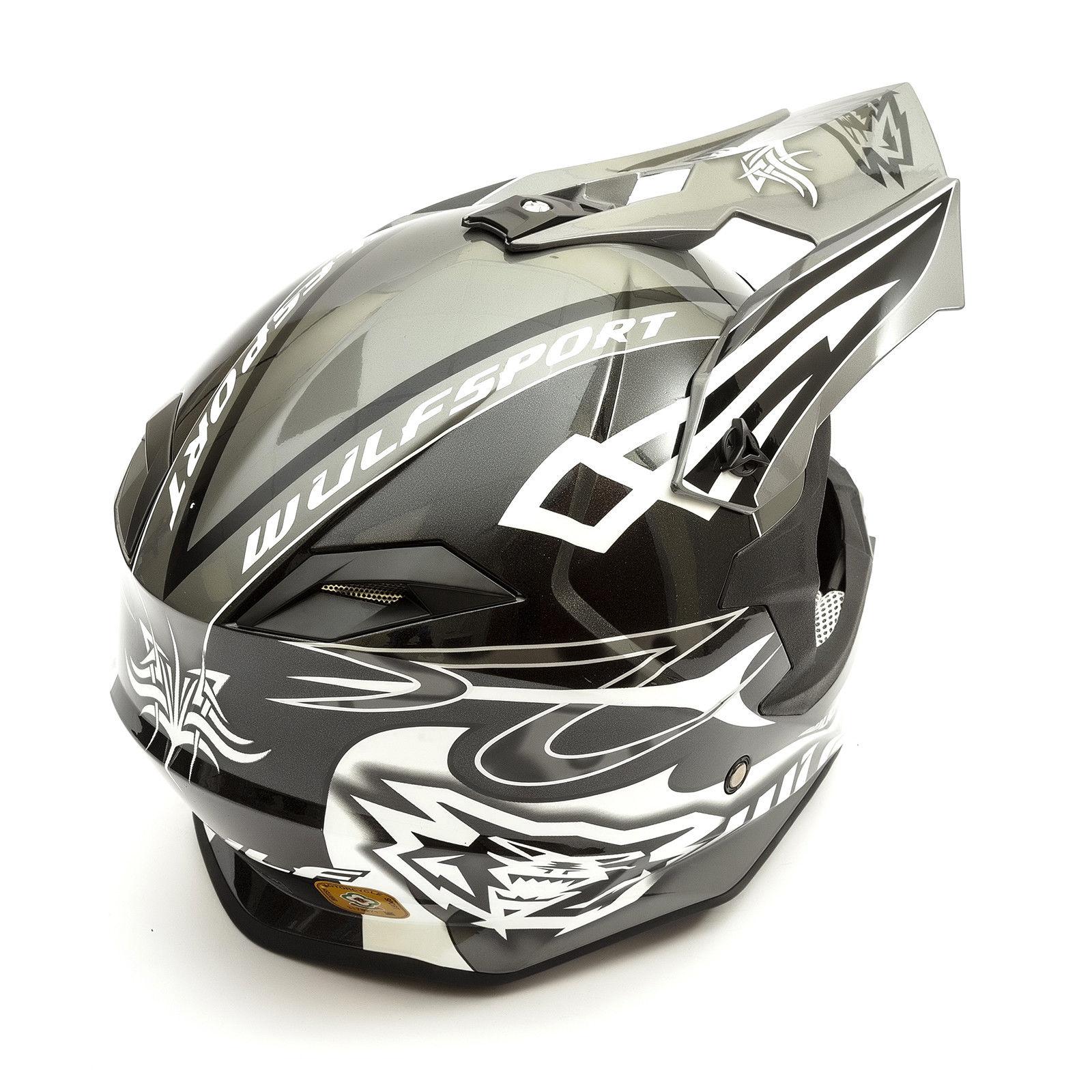 Wulfsport-Adult-Sceptre-Helmets-Motocross-Pitbike-Motorbike-Off-Road-Racing-ATV thumbnail 7