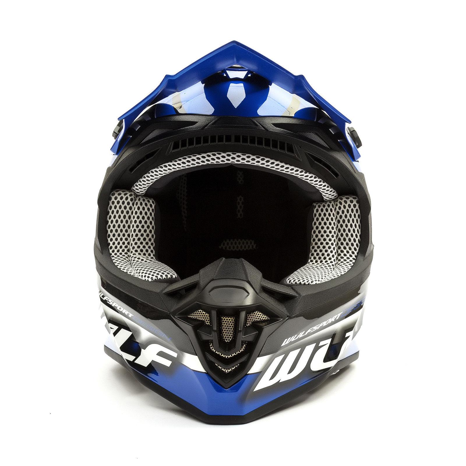 Wulfsport-Adult-Sceptre-Helmets-Motocross-Pitbike-Motorbike-Off-Road-Racing-ATV thumbnail 26