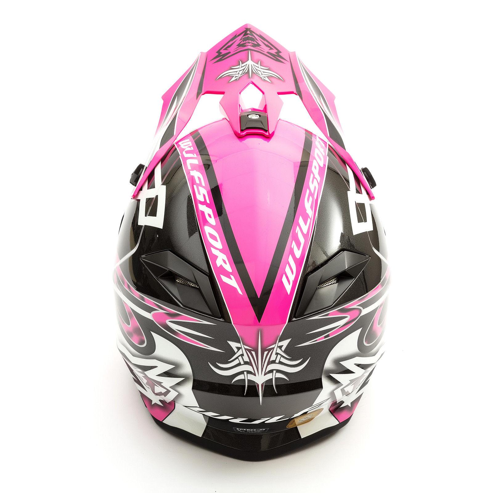 Wulfsport-Adult-Sceptre-Helmets-Motocross-Pitbike-Motorbike-Off-Road-Racing-ATV thumbnail 42
