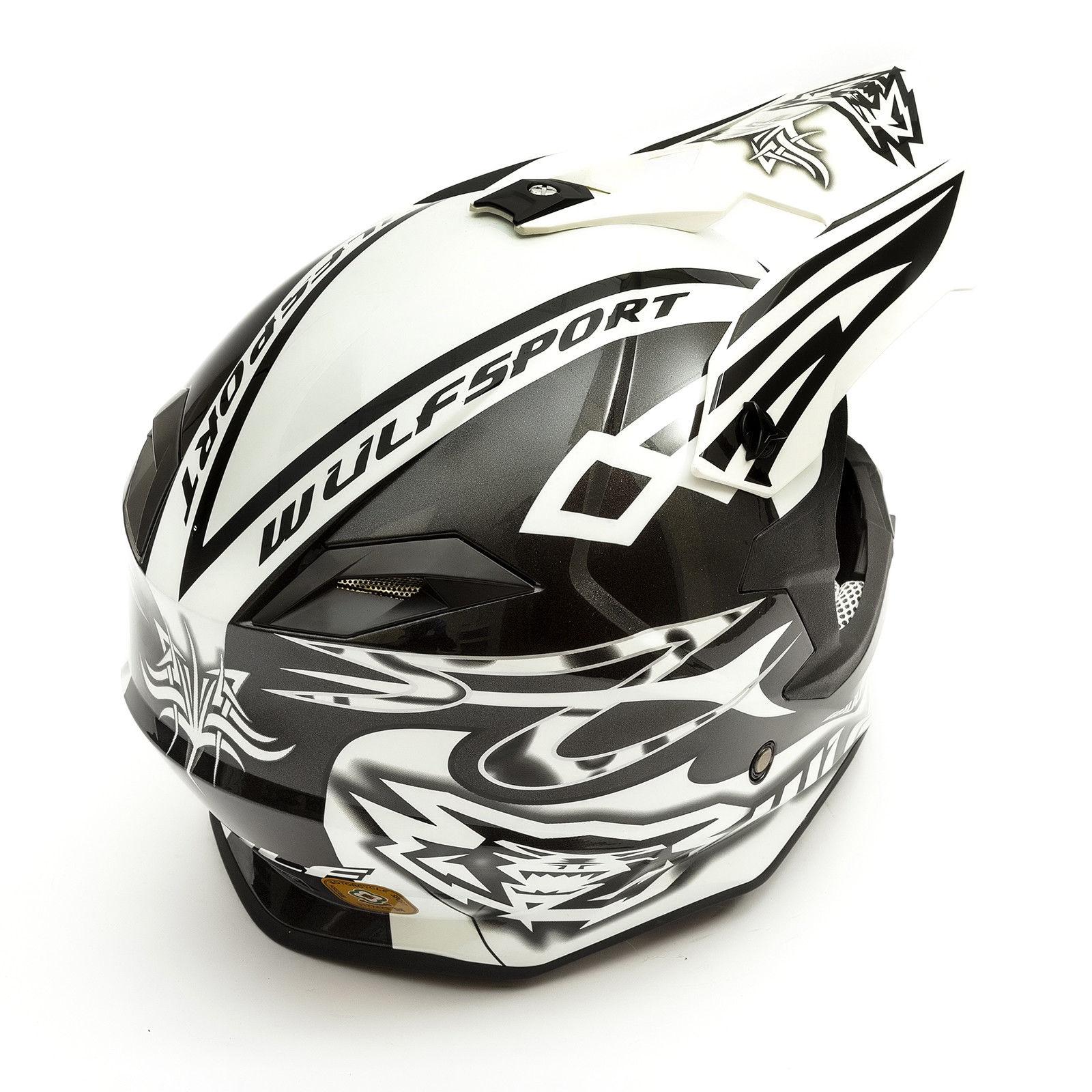 Wulfsport-Adult-Sceptre-Helmets-Motocross-Pitbike-Motorbike-Off-Road-Racing-ATV thumbnail 55