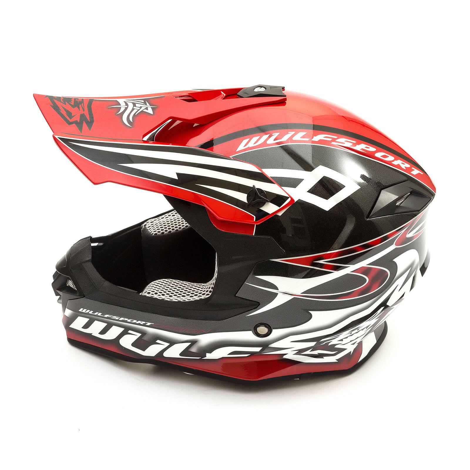 Wulfsport-Adult-Sceptre-Helmets-Motocross-Pitbike-Motorbike-Off-Road-Racing-ATV thumbnail 28