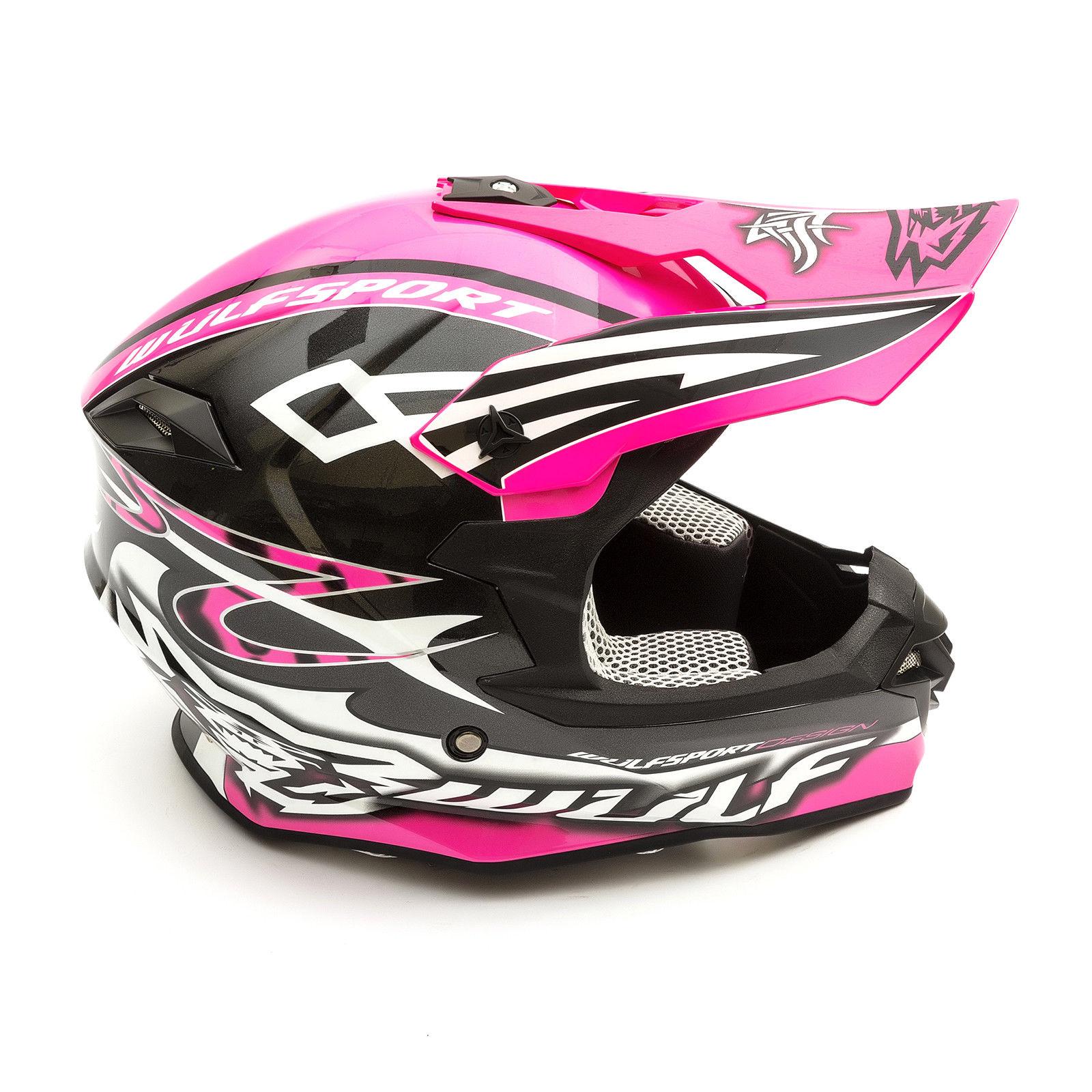 Wulfsport-Adult-Sceptre-Helmets-Motocross-Pitbike-Motorbike-Off-Road-Racing-ATV thumbnail 44