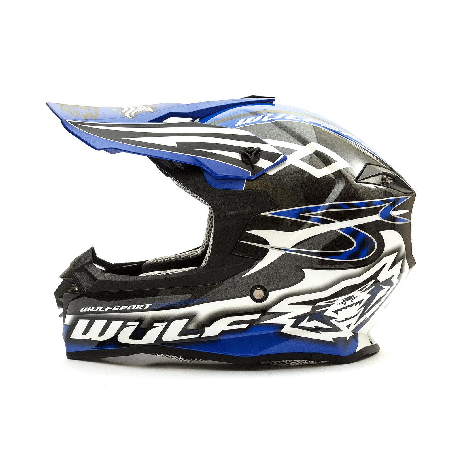Wulfsport-Adult-Sceptre-Helmets-Motocross-Pitbike-Motorbike-Off-Road-Racing-ATV thumbnail 23