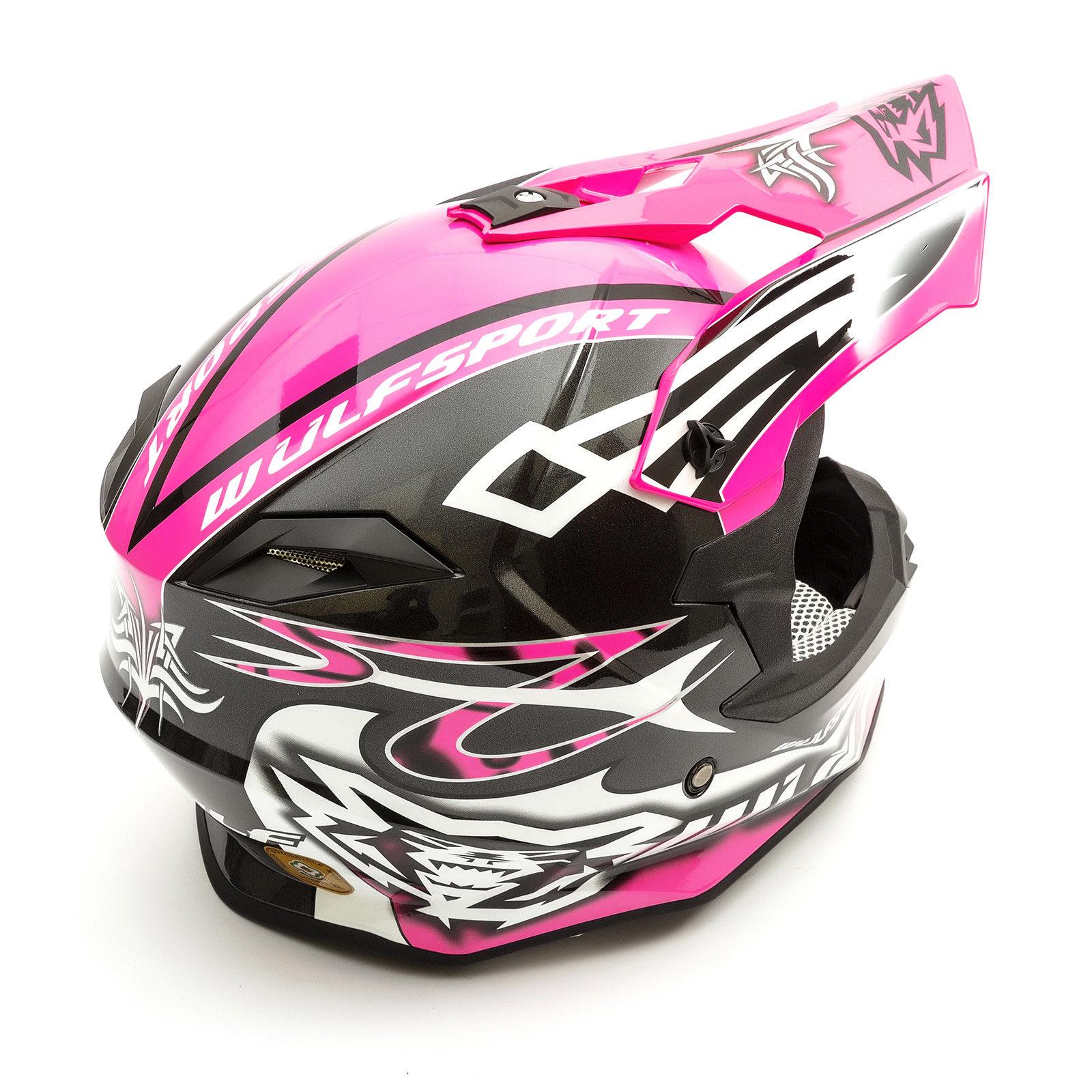 Wulfsport-Adult-Sceptre-Helmets-Motocross-Pitbike-Motorbike-Off-Road-Racing-ATV thumbnail 43